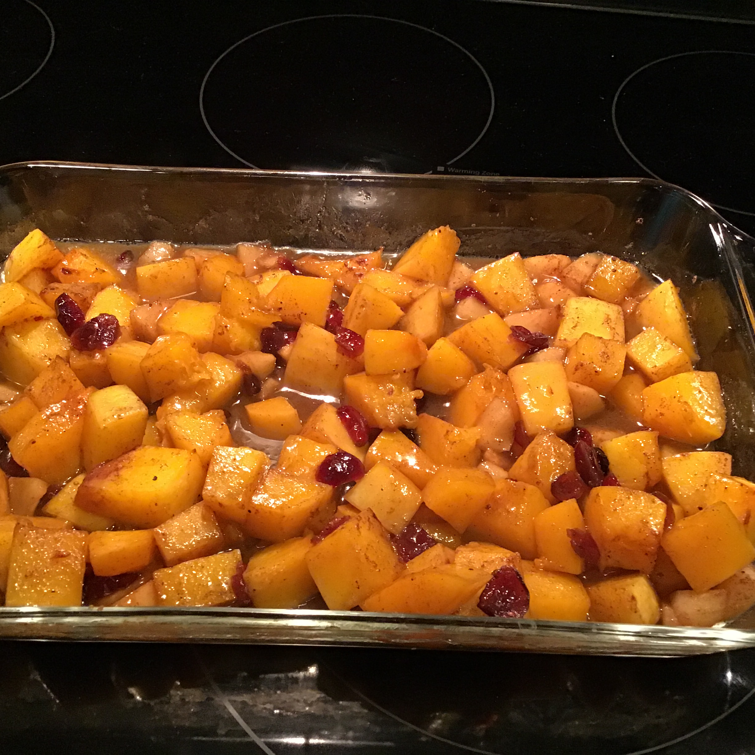 Butternut Squash with Apple and Cranberries