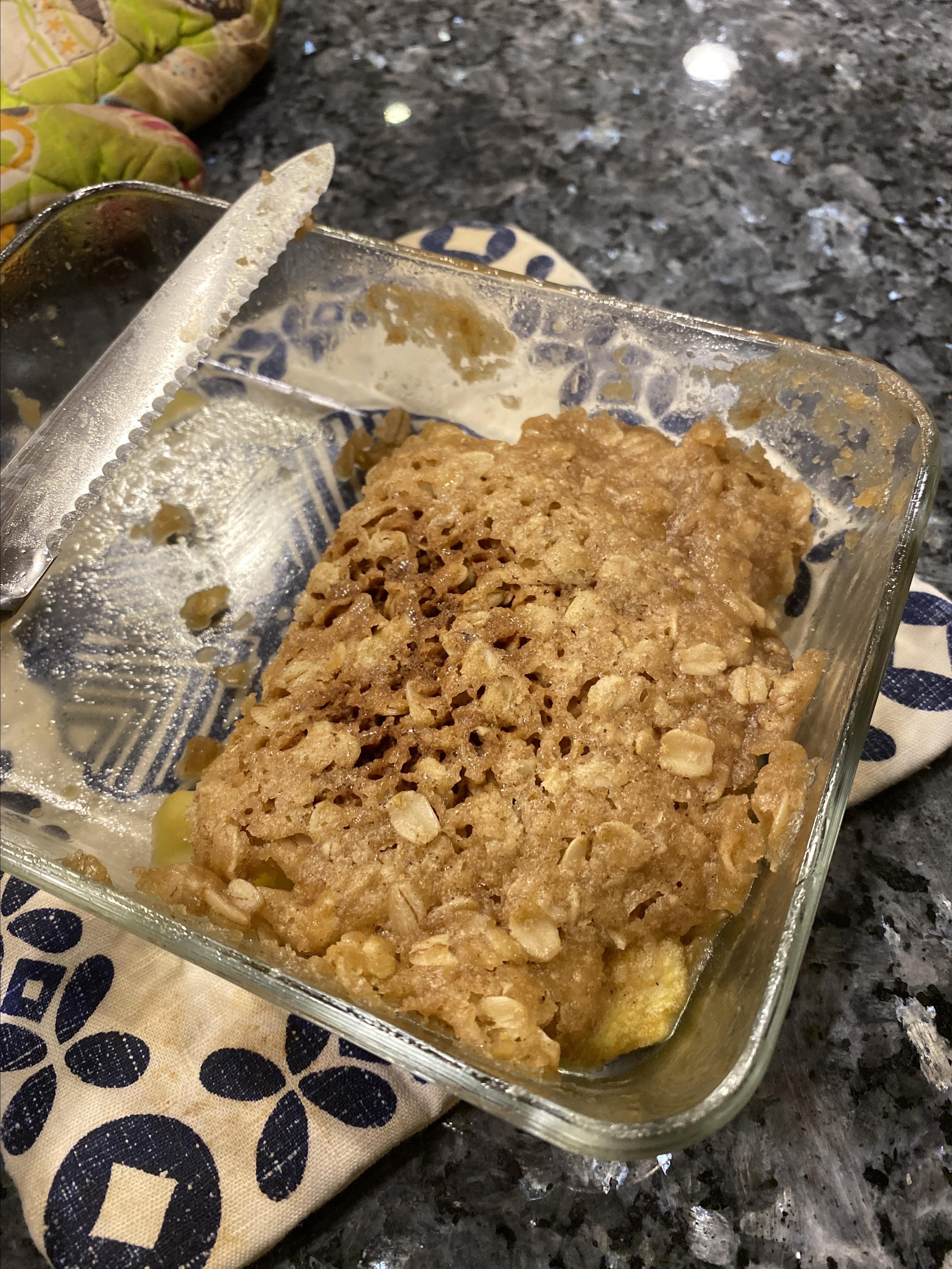 Microwave Apple Crisp