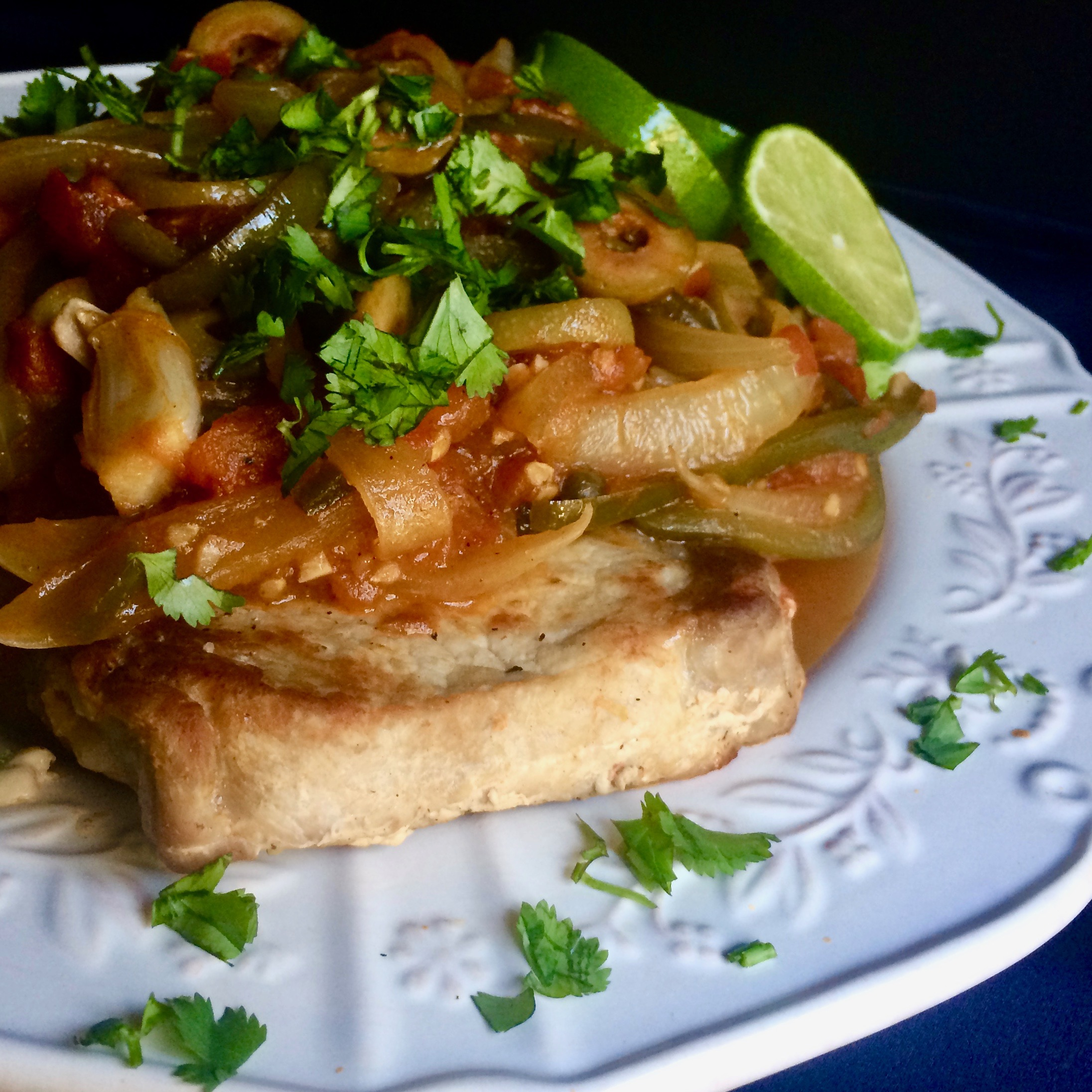 Pork Chops in Veracruz Sauce
