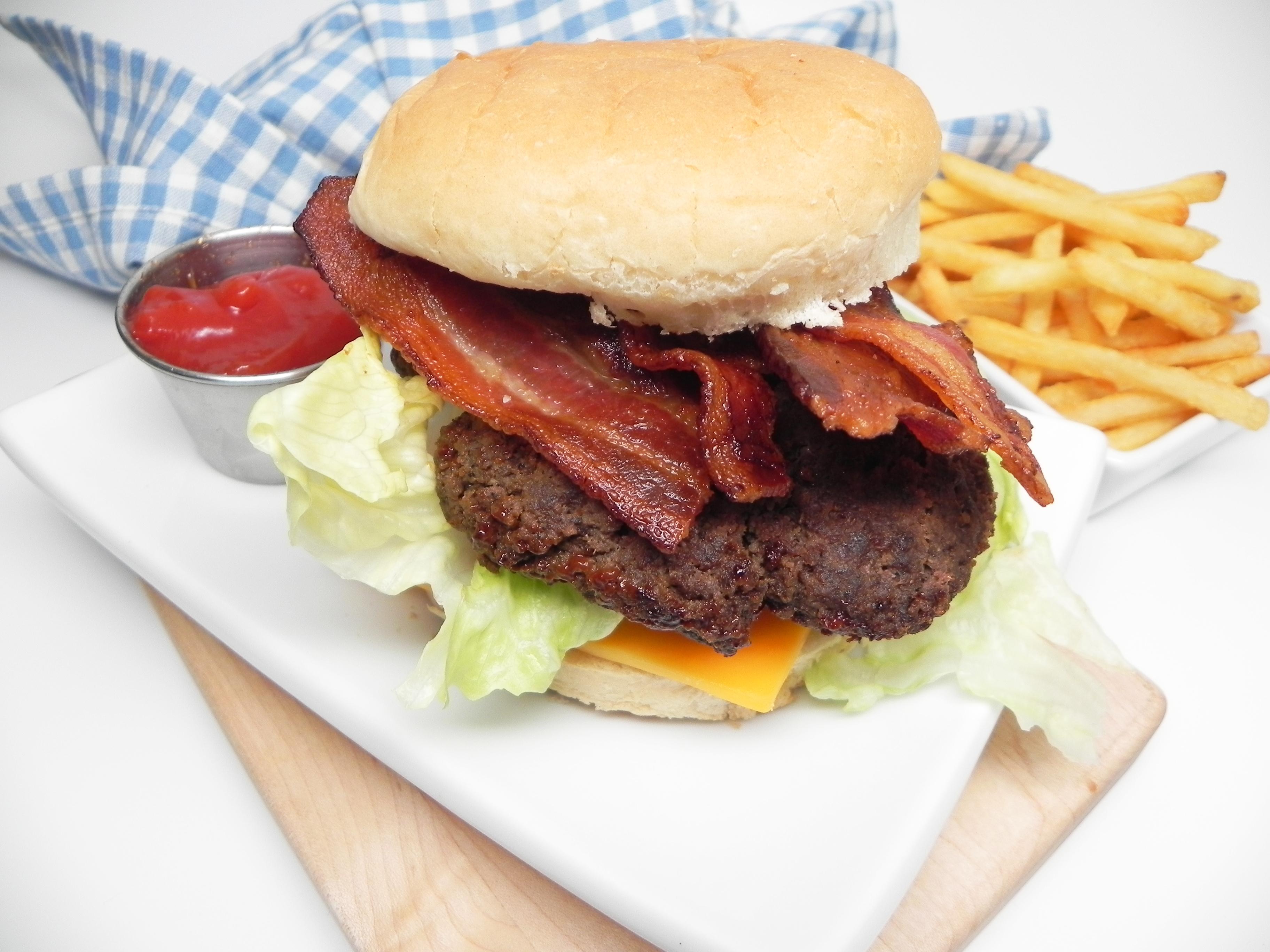 Juan's Stovetop Bacon Burgers