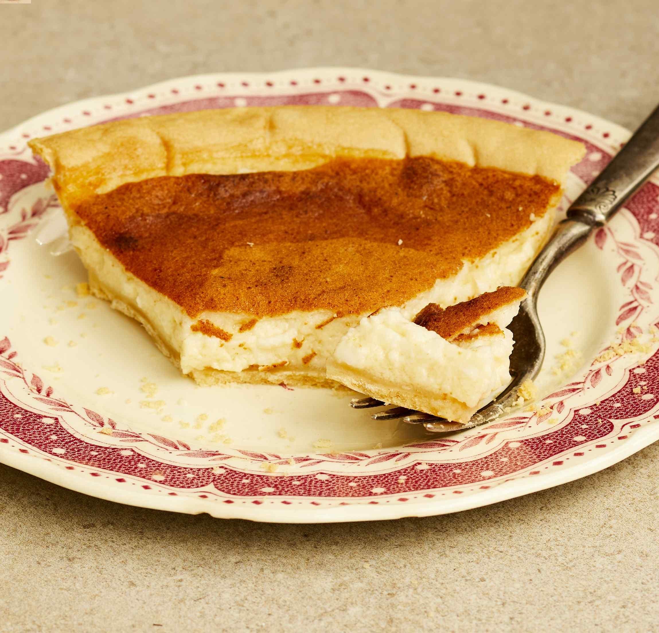 Amish Custard Cottage Cheese Pie
