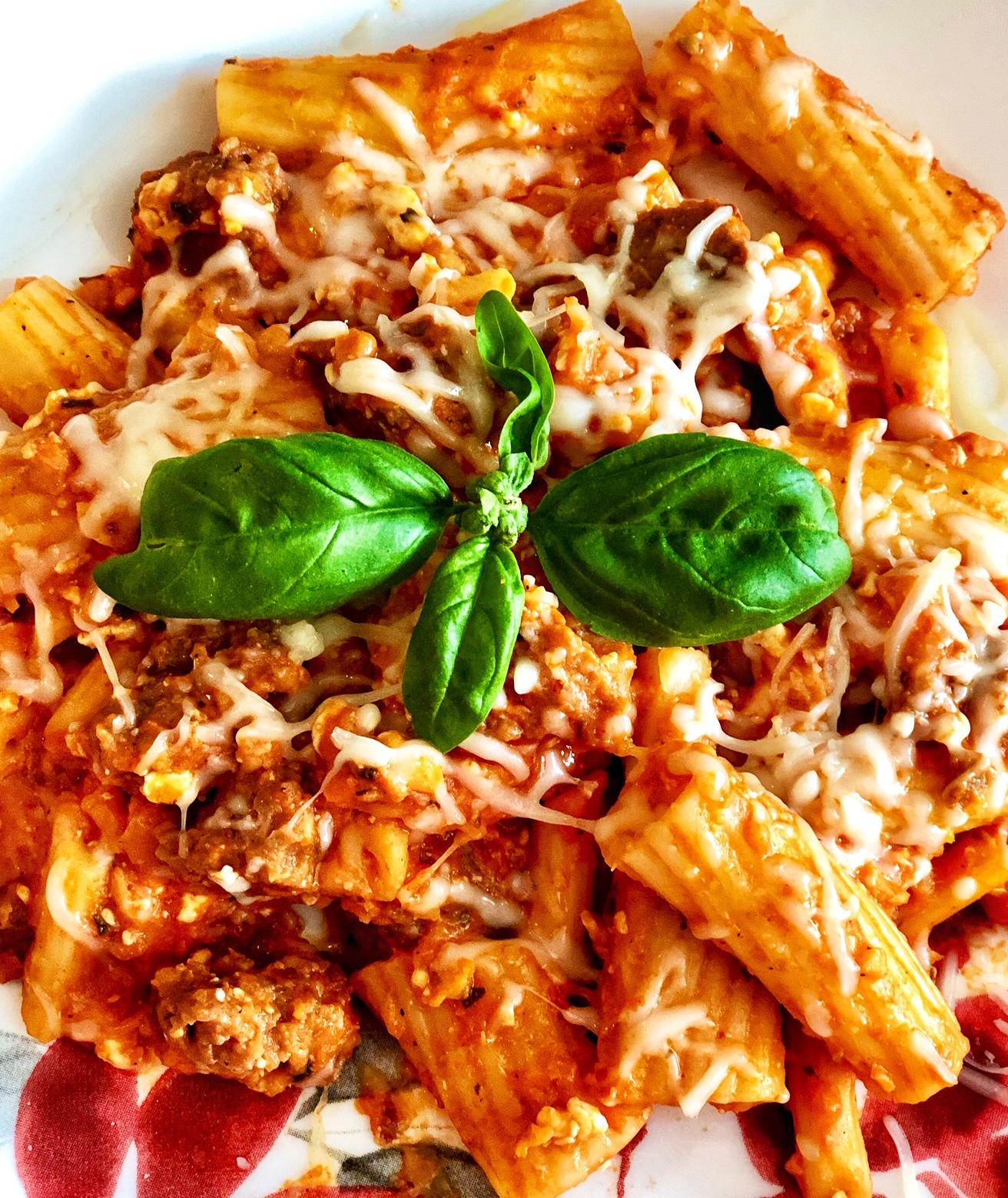 Easy Italian Sausage and Rigatoni