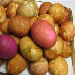 Onion Skin Colored Eggs JR