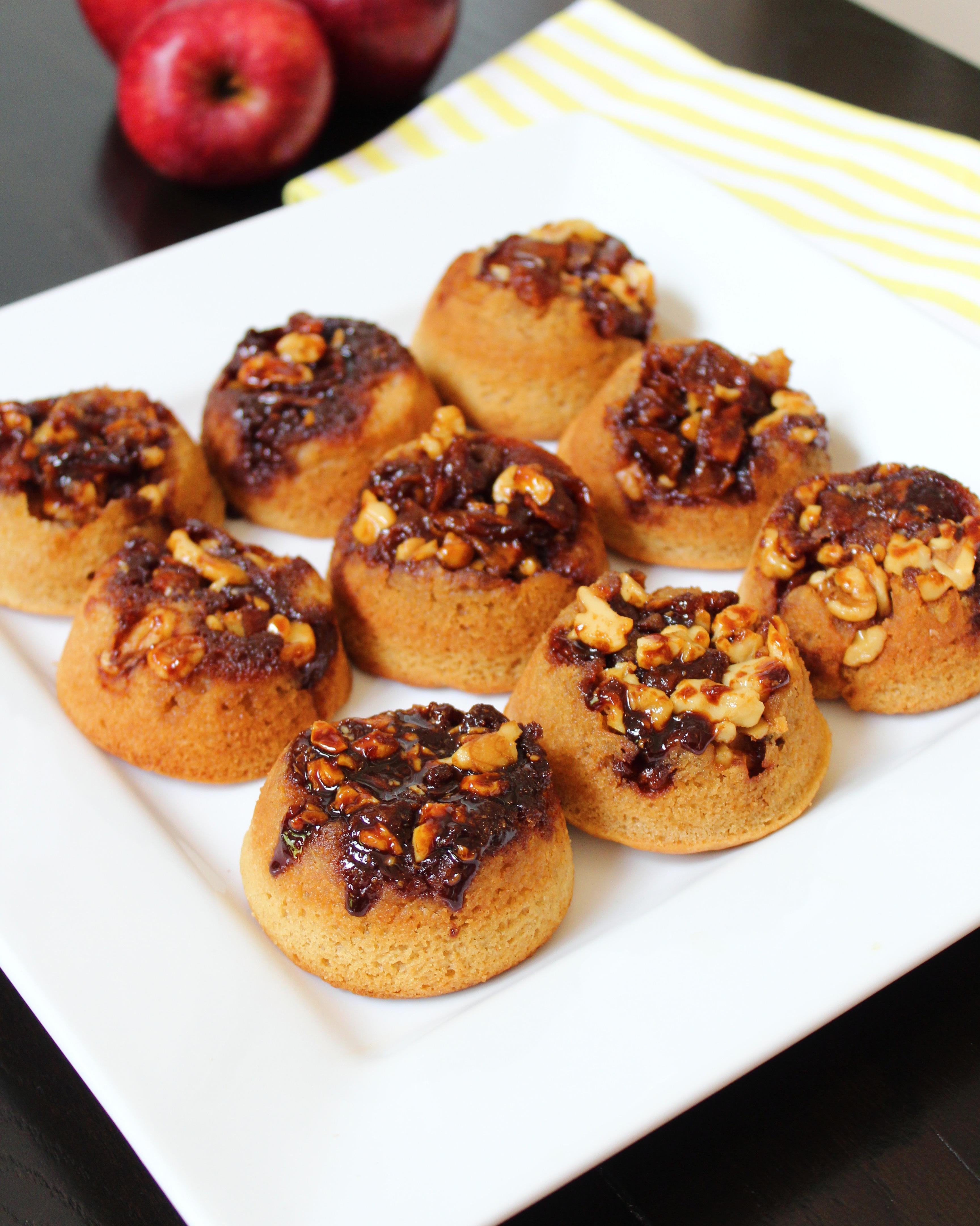 Upside-Down Caramel Apple Muffins