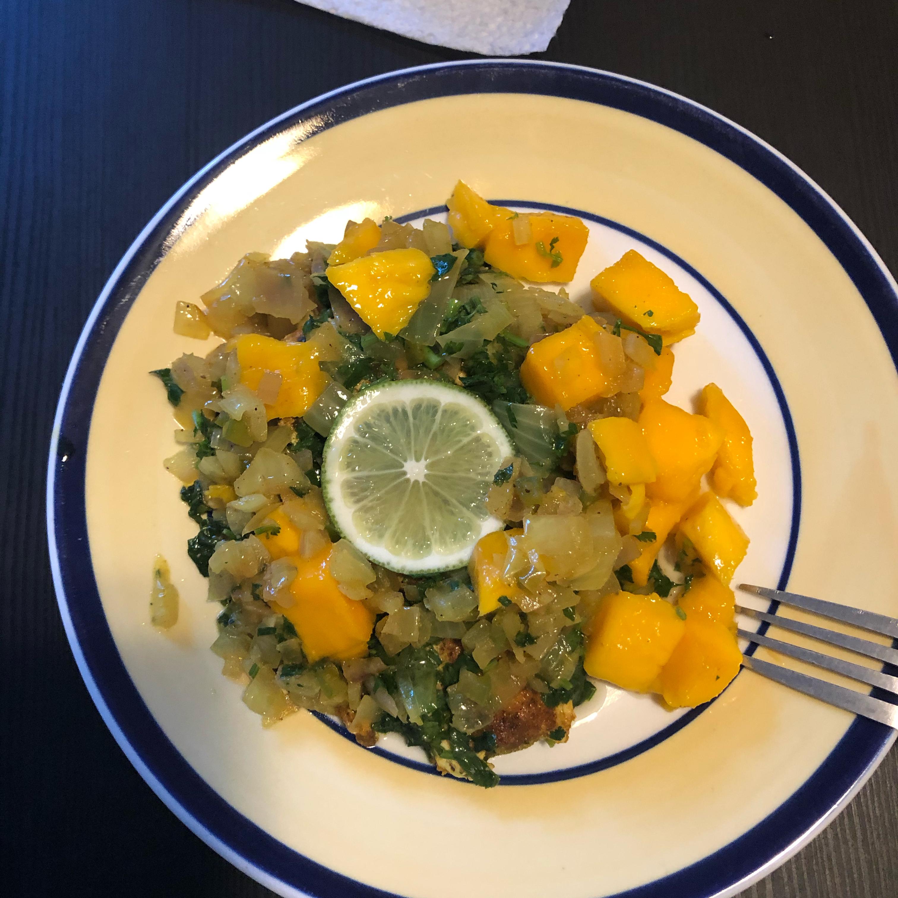 Curry Salmon with Mango ks_hunter