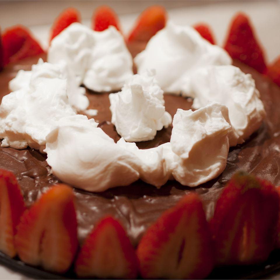 Strawberry Chocolate Mousse Cake dibadiba