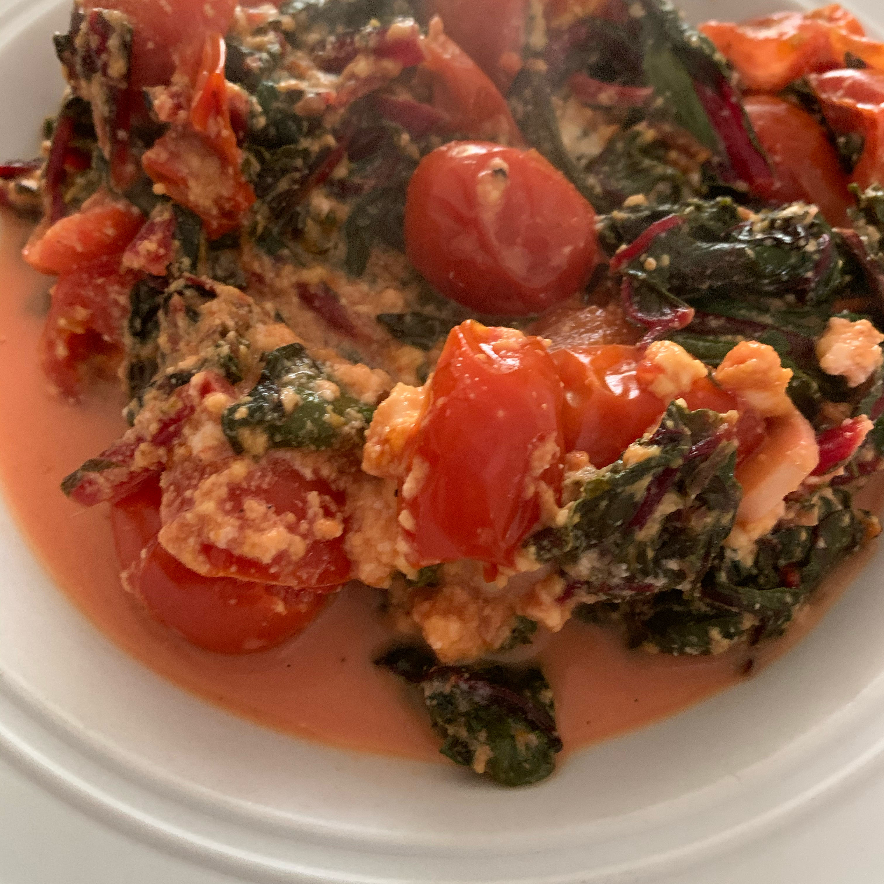 Easy Chard with Feta and Cherry Tomatoes barbara