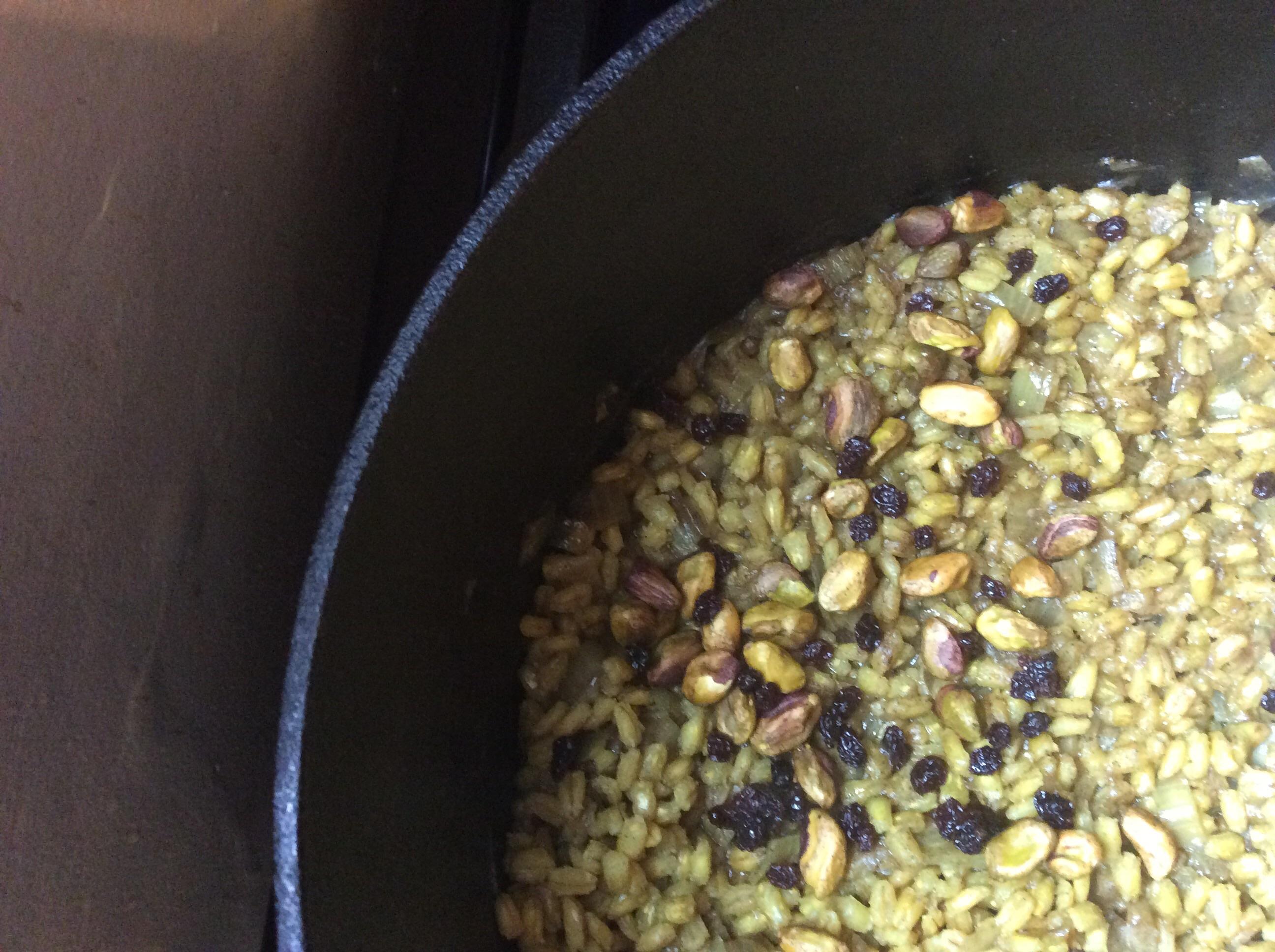 Indian Curried Barley Pilaf Catherine