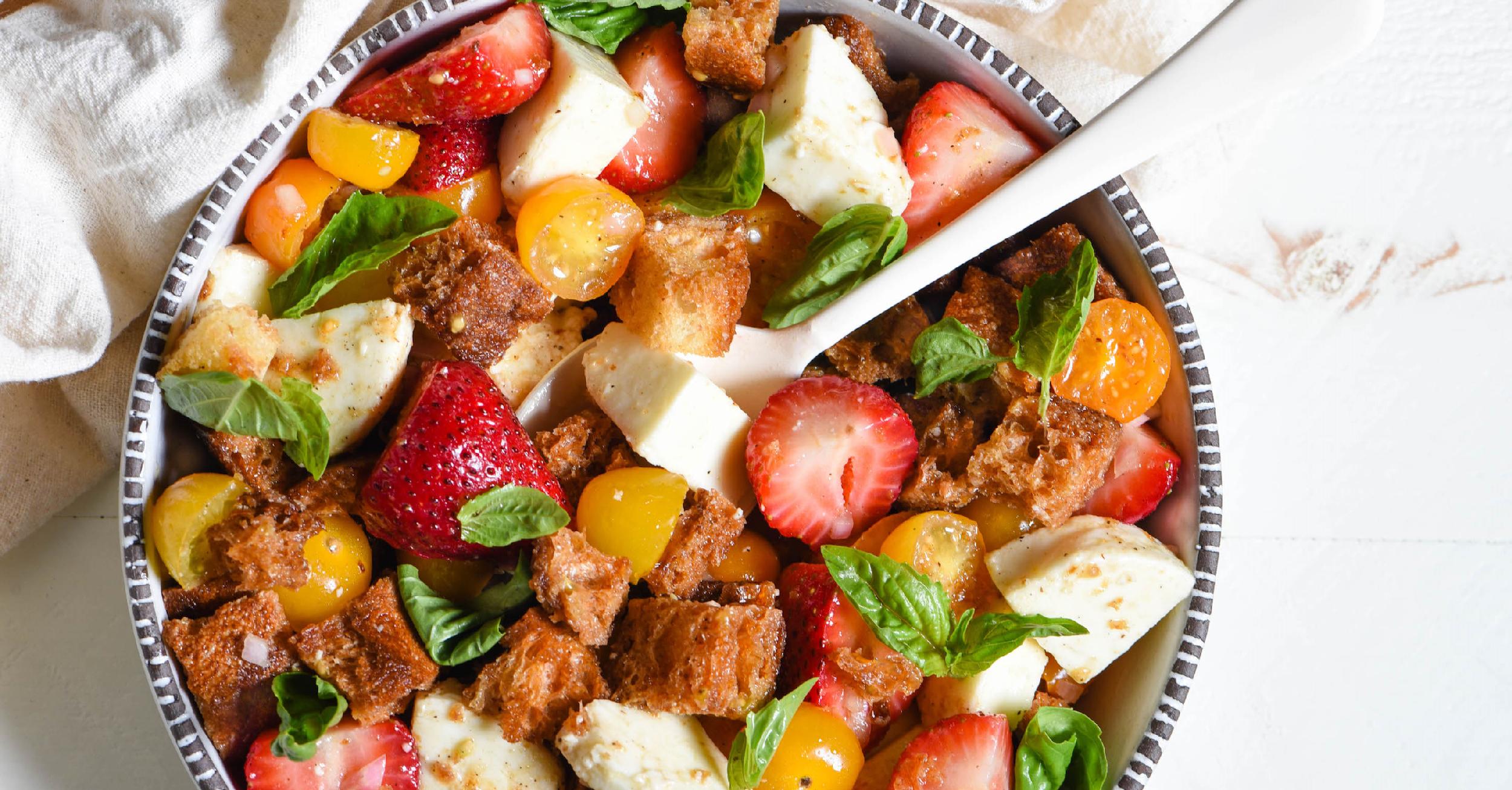 Strawberry Caprese Panzanella