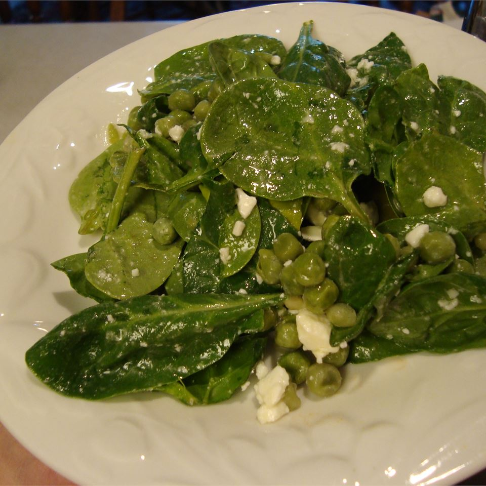 Don't let the simple (and almost entirely green) ingredient list convince you this salad cannot be flavorful enough for your special Thanksgiving meal. The salad dressing — good quality olive oil, lemon juice, salt, and pepper — gets a boost from tangy, salty feta cheese. The spinach base is heartier, healthier than the iceberg type. You can always sprinkle in pantry or fridge ingredients you have on hand, like dried fruit, nuts, seeds, or diced vegetables.
