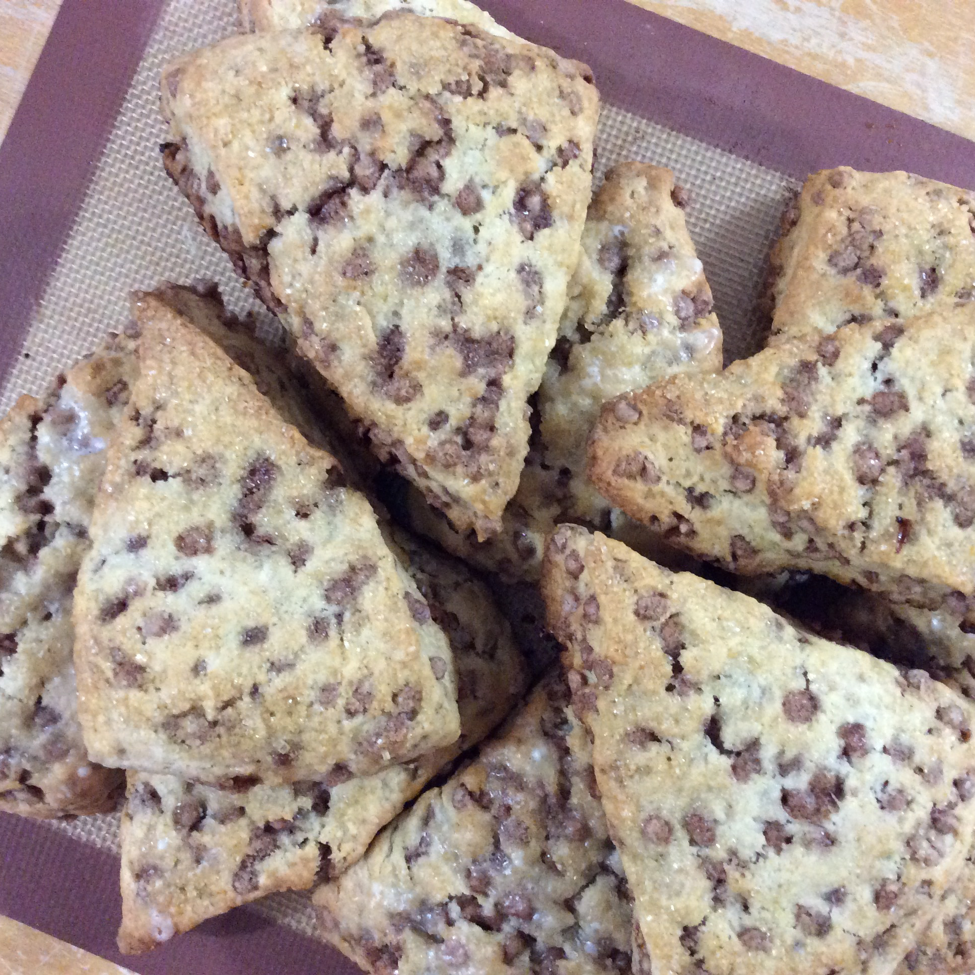 Easy Cinnamon Chip Scones katchew