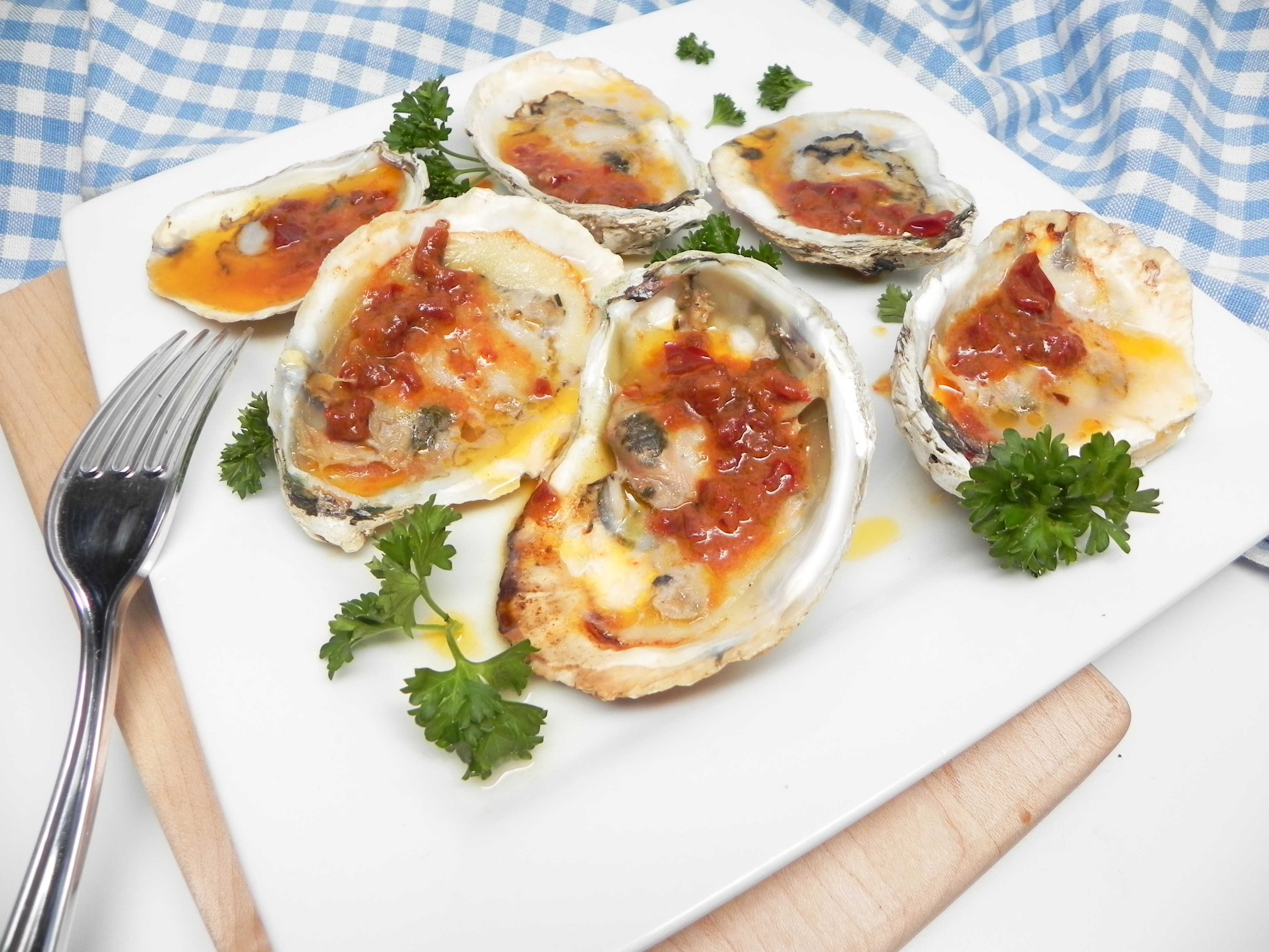 Grilled Oysters with Chipotle Butter