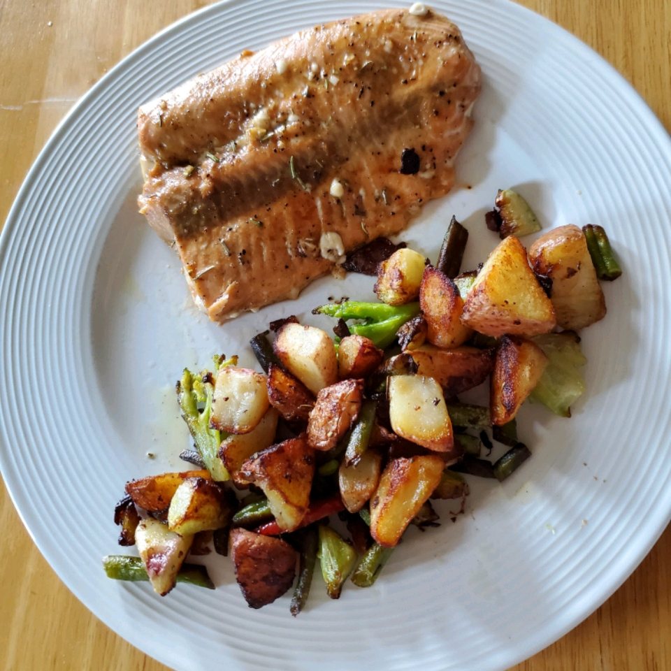 Roast Salmon With Balsamic Vinegar