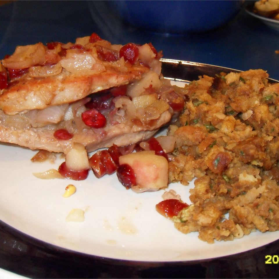 Cranberry and Apple Stuffed Pork Chops Anonymous