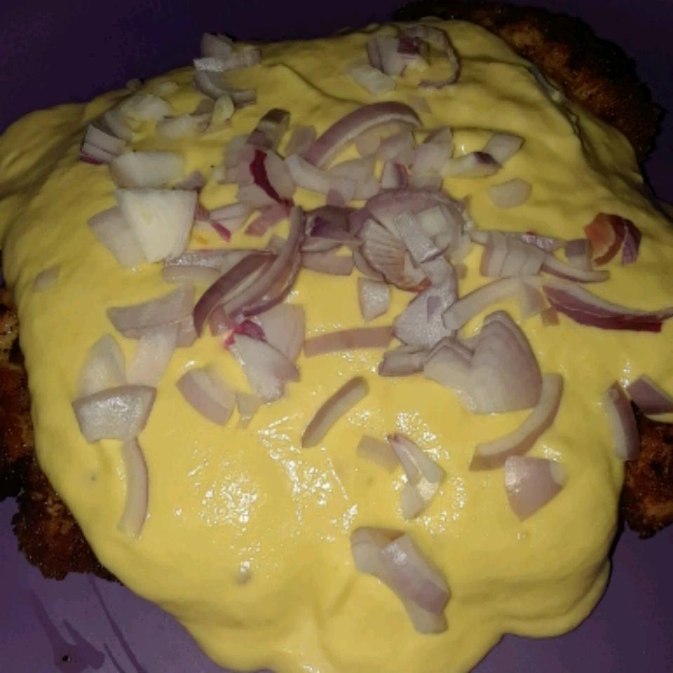 Chicken Schnitzel with Mango Cream Sauce