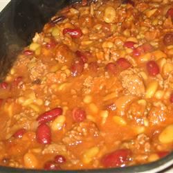 Calico Beans with Beef and Bacon Trish Beier