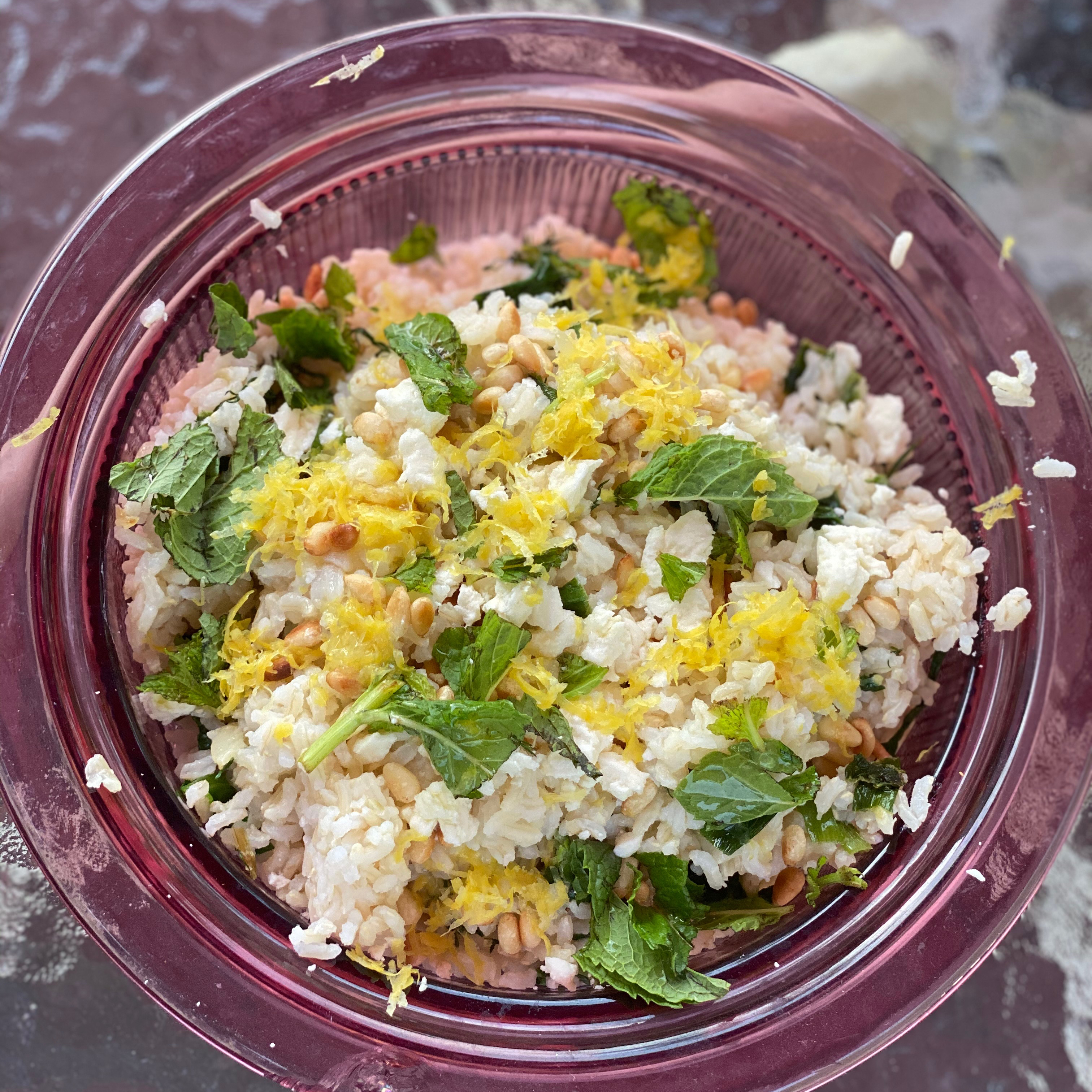 Delicious Spinach Rice with Feta Robin Berry
