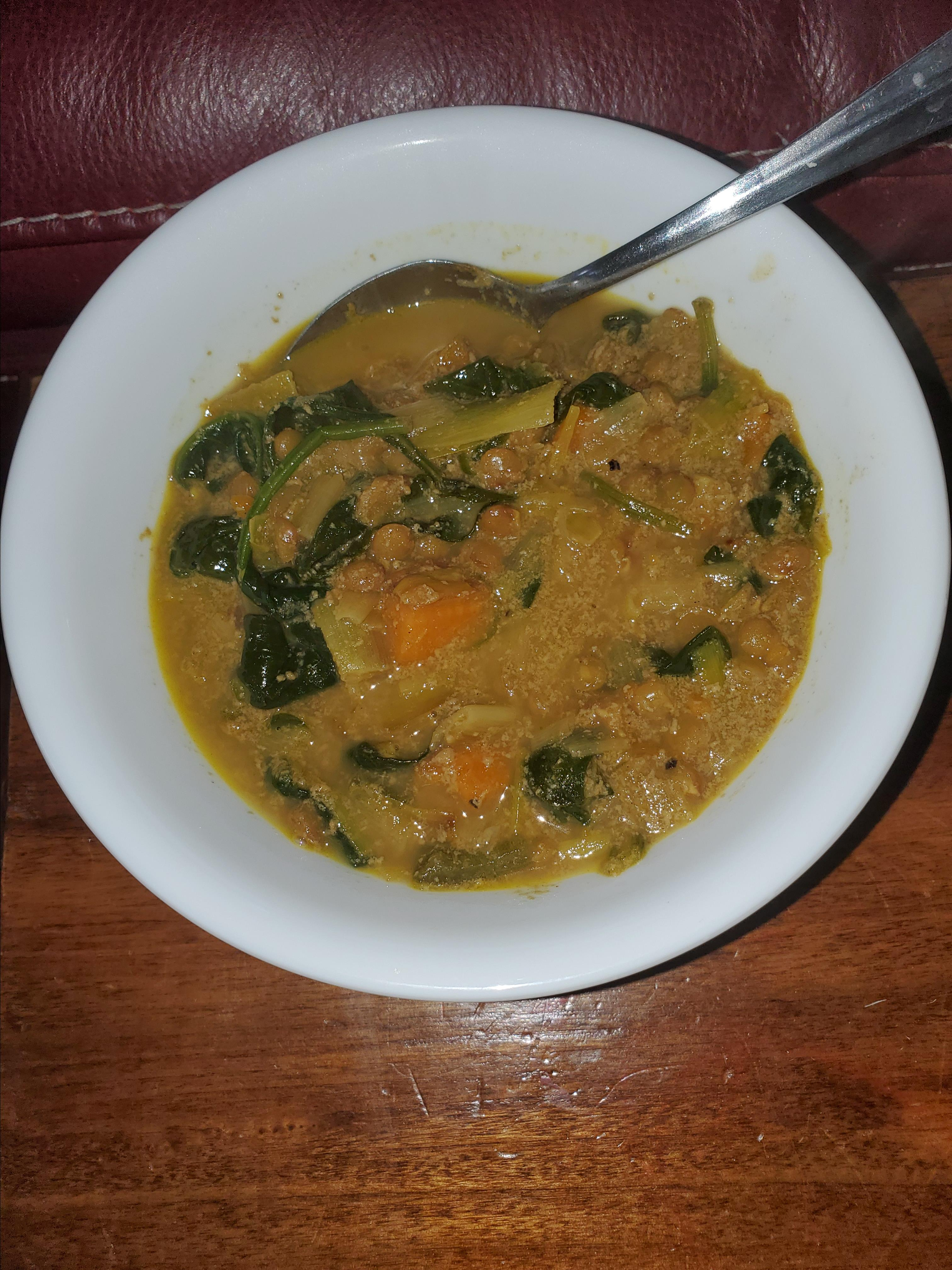 Ruth's Red Lentil and Potato Soup