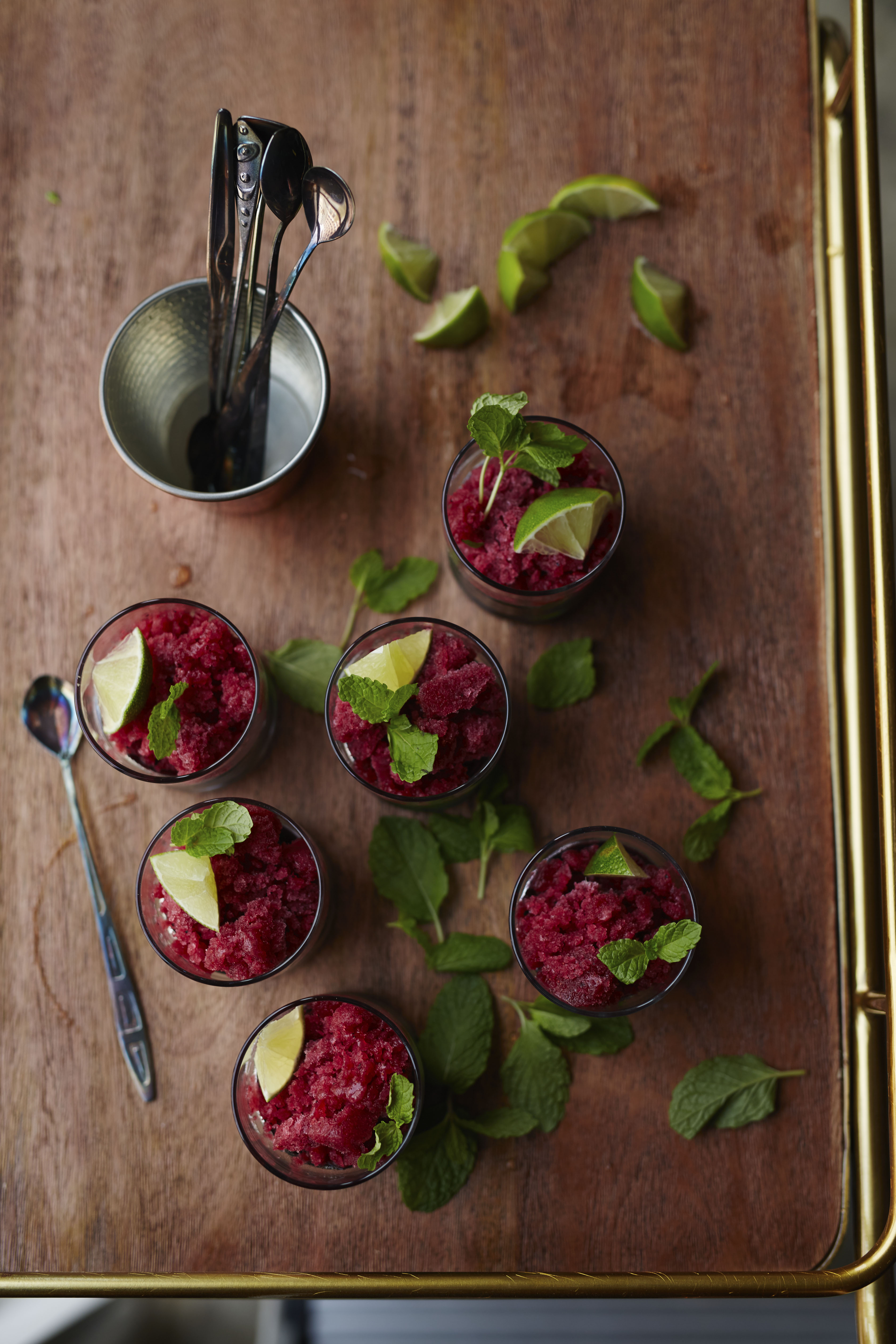 Berry-Mint Granitas