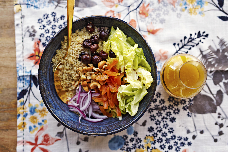 Honey-Quinoa Salad with Cherries and Cashews