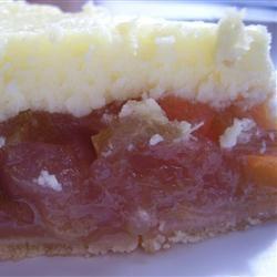 Rhubarb Cheesecake Pie Katie Bot