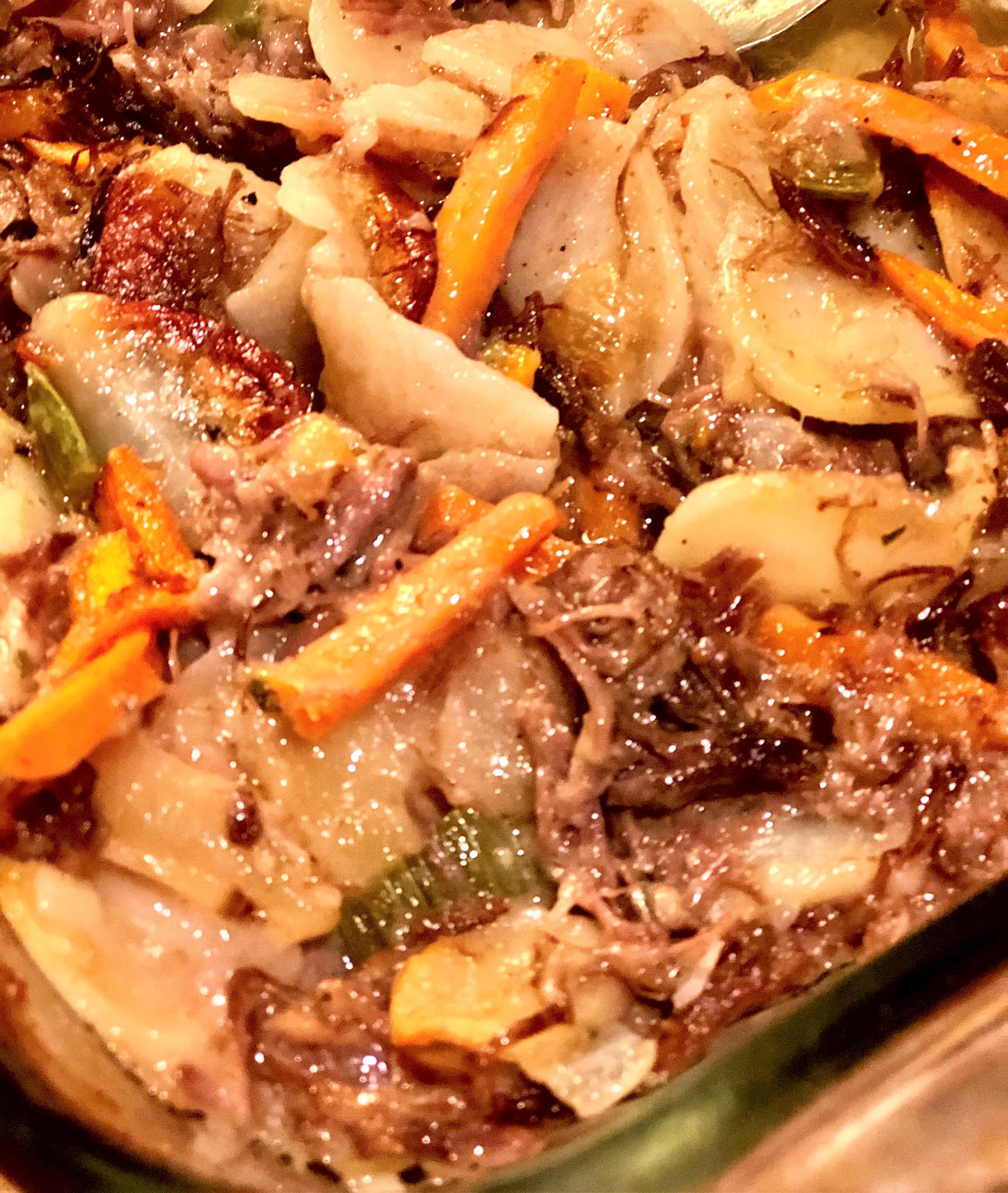 Leftover Pot Roast Casserole