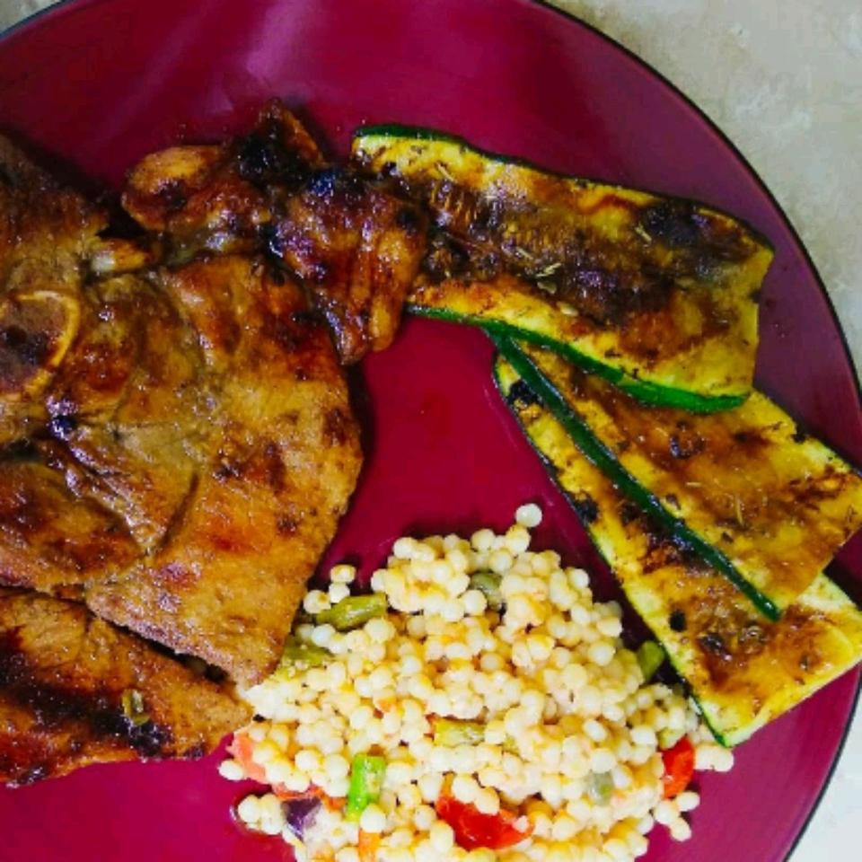 Balsamic Grilled Zucchini Yelena Knudsen