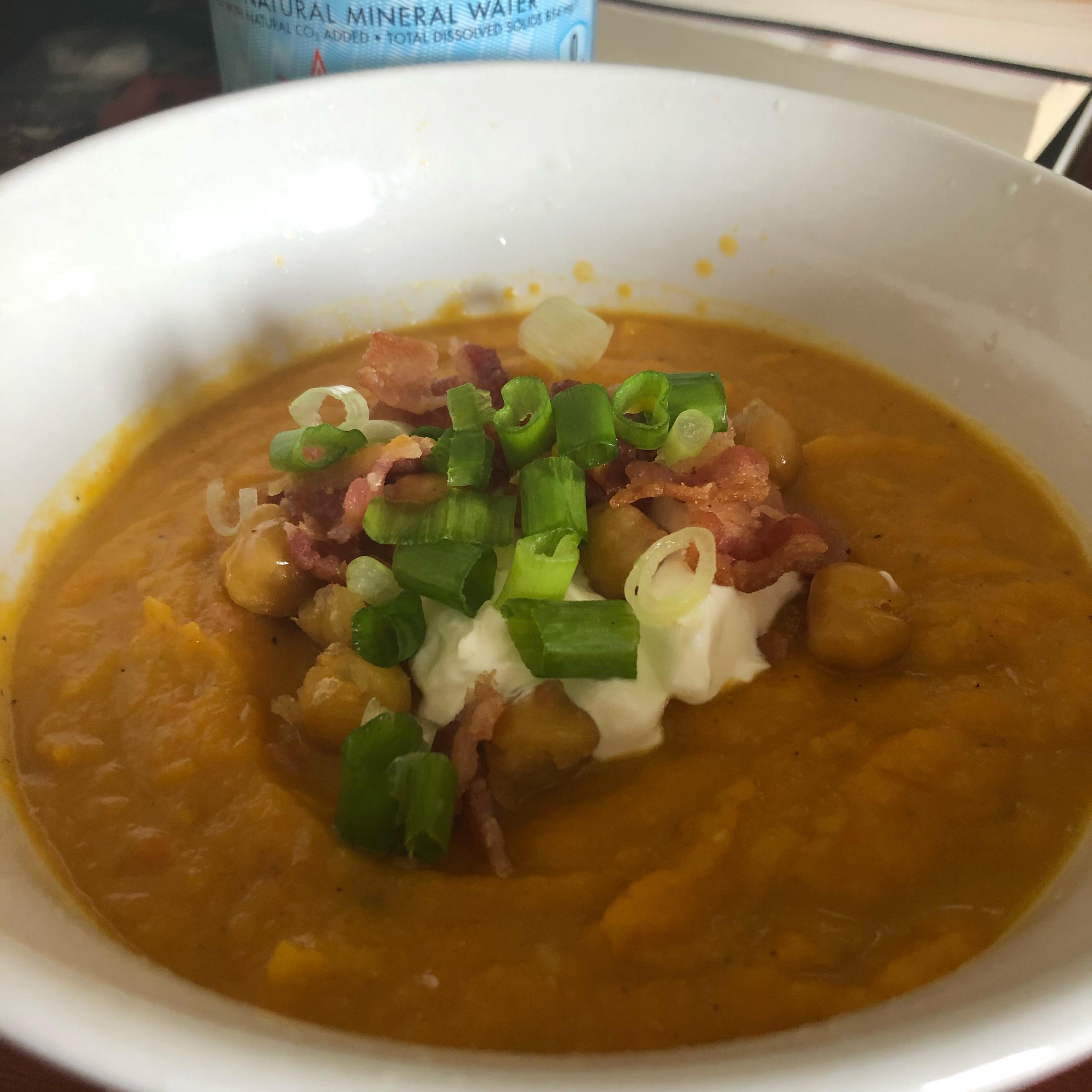 Roasted Butternut Squash, Garlic, and Apple Soup Bobbi Jean
