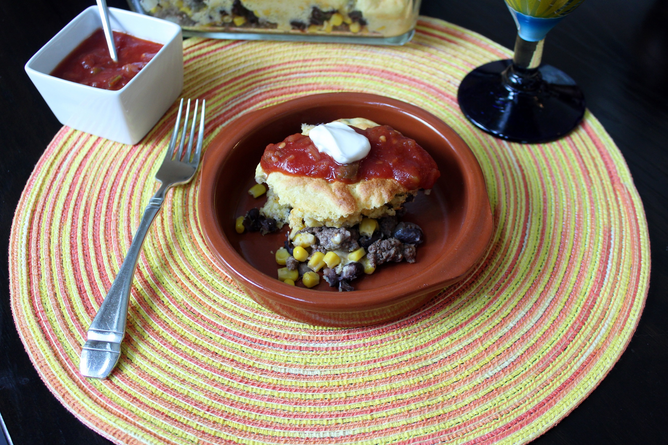 Spicy Black Bean Taco Bake