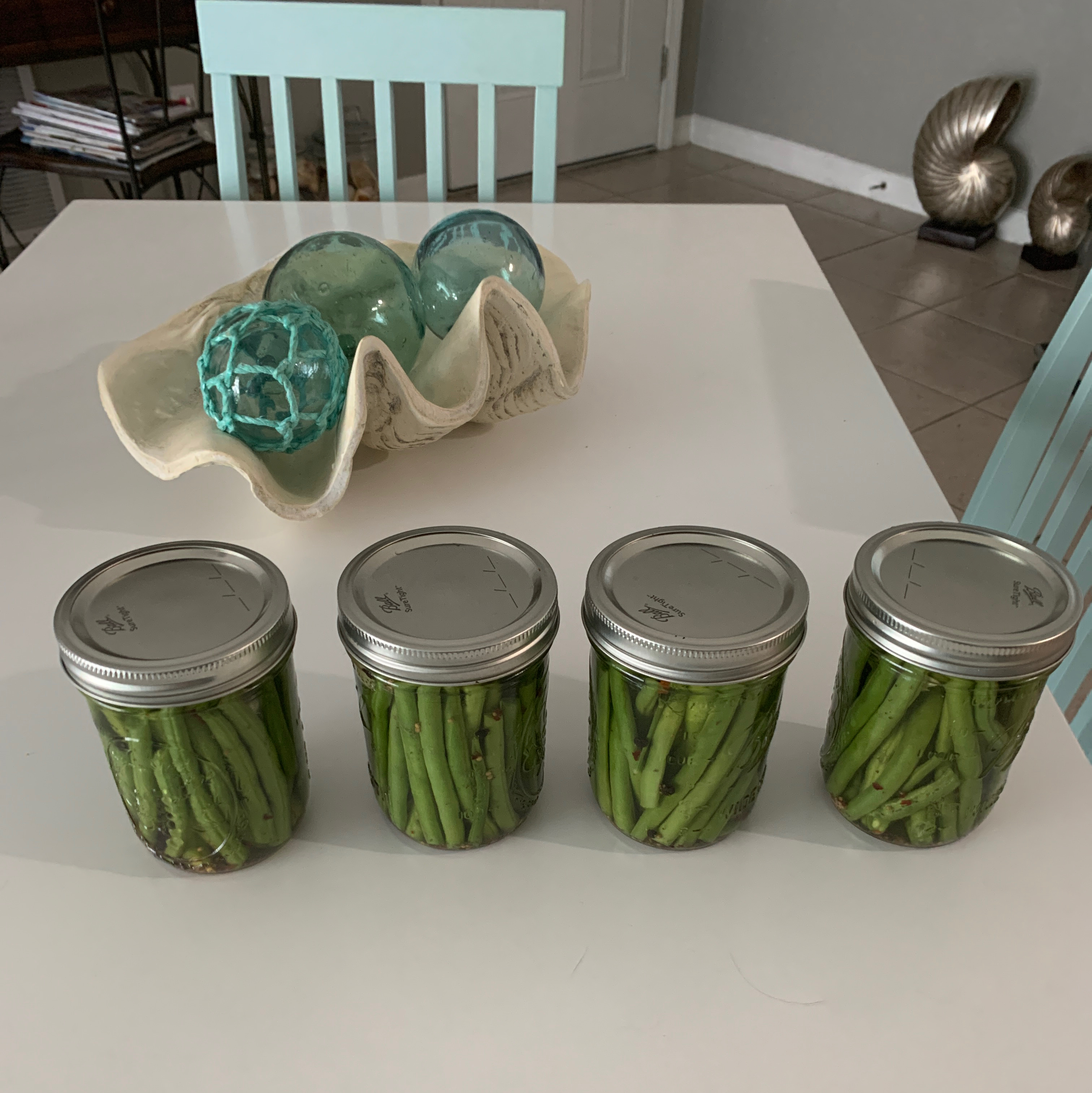 Cold-Pickled Green Beans Zona Strickland