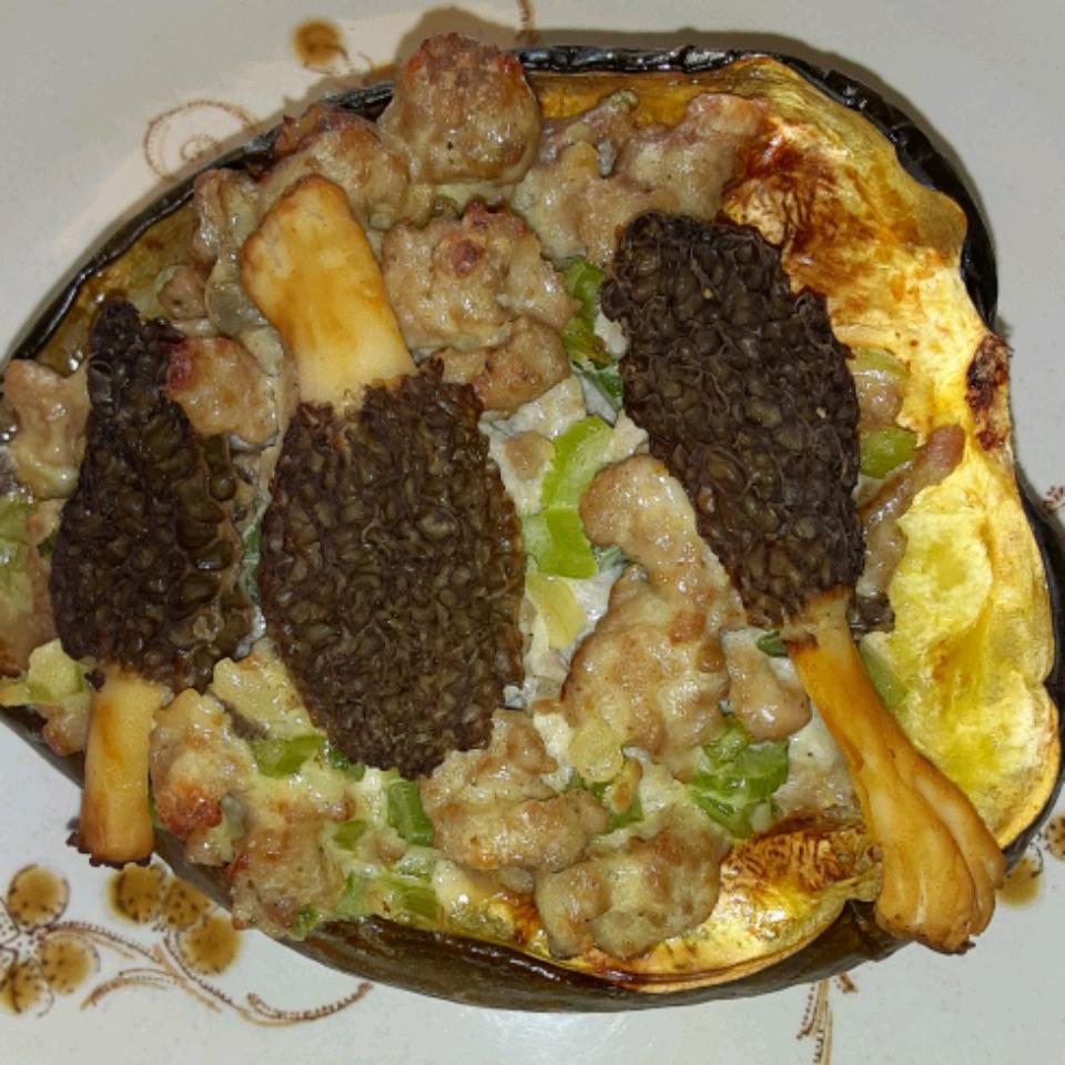 Squasage (Sausage-stuffed Squash)
