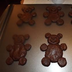 Chocolate Teddy Bear Cookies TRE8JSE