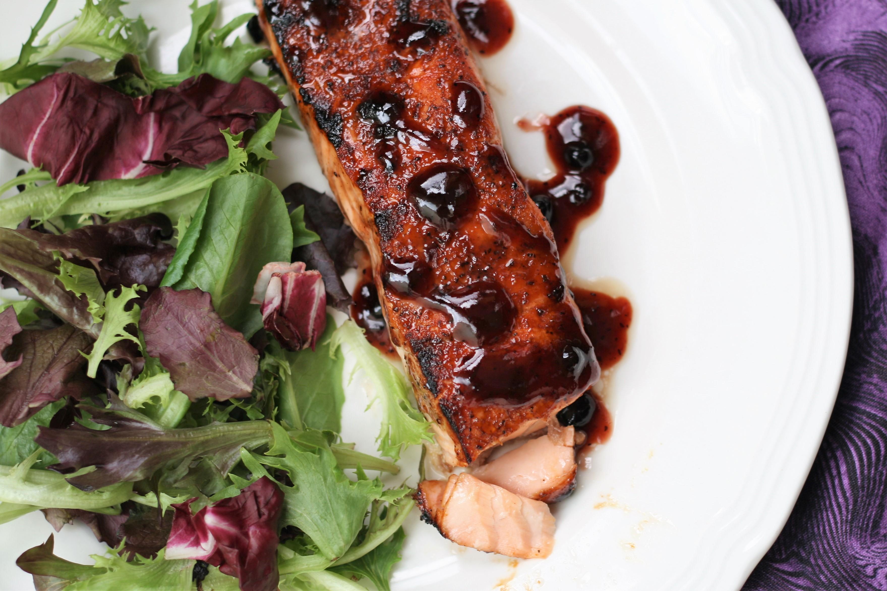 Blueberry-BBQ Salmon