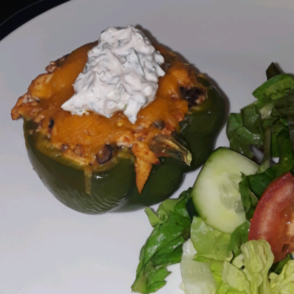 Southwestern Stuffed Bell Peppers (Low Carb) Big Poppa