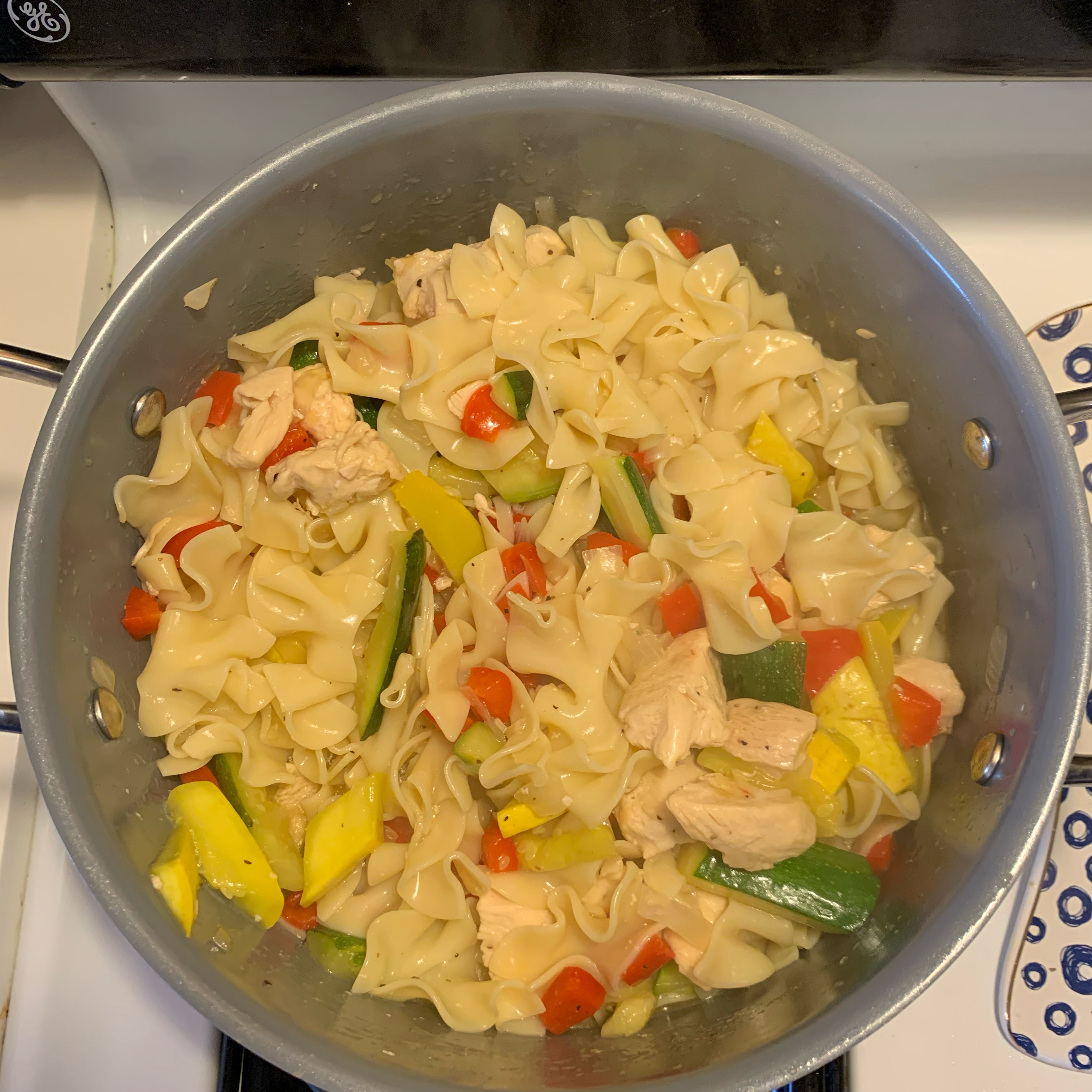 Lemon Pepper Pasta with Chicken and Vegetables Natalie Blood