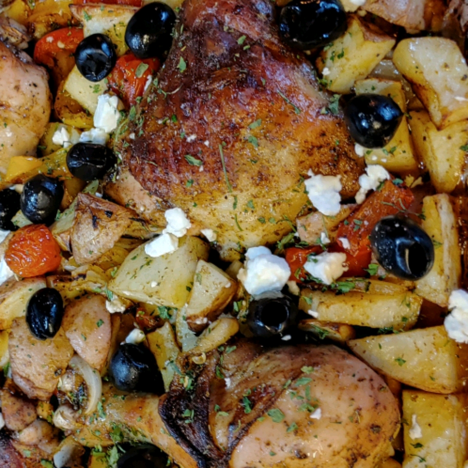 Mediterranean Chicken Sheet Pan Dinner Sandra Cutchall