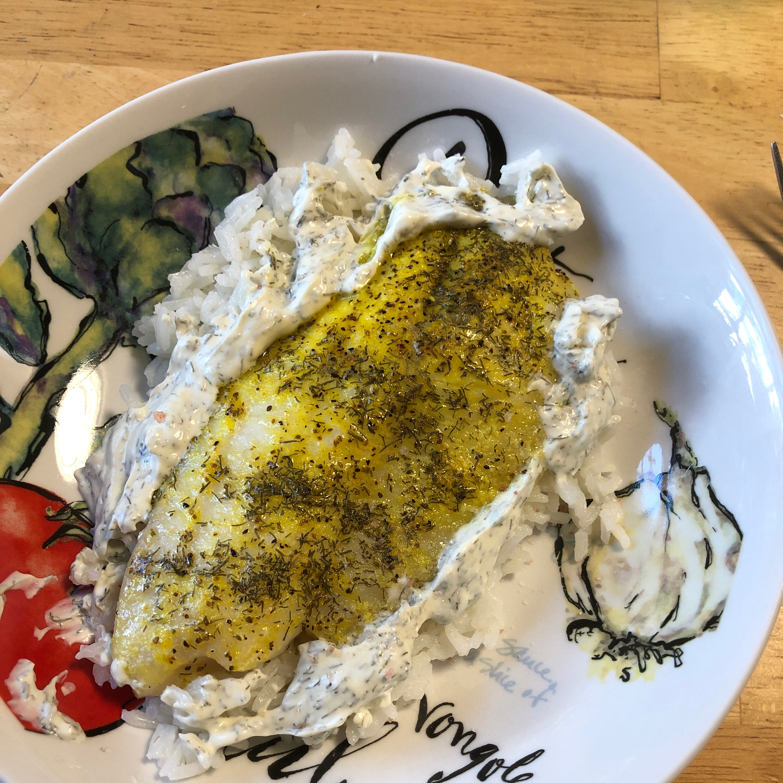 Tilapia with Creamy Sauce Kat Jurewicz