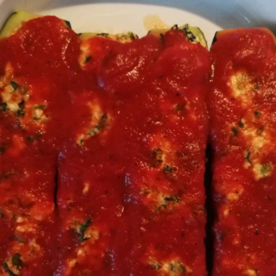 Ricotta Stuffed Zucchini Boats