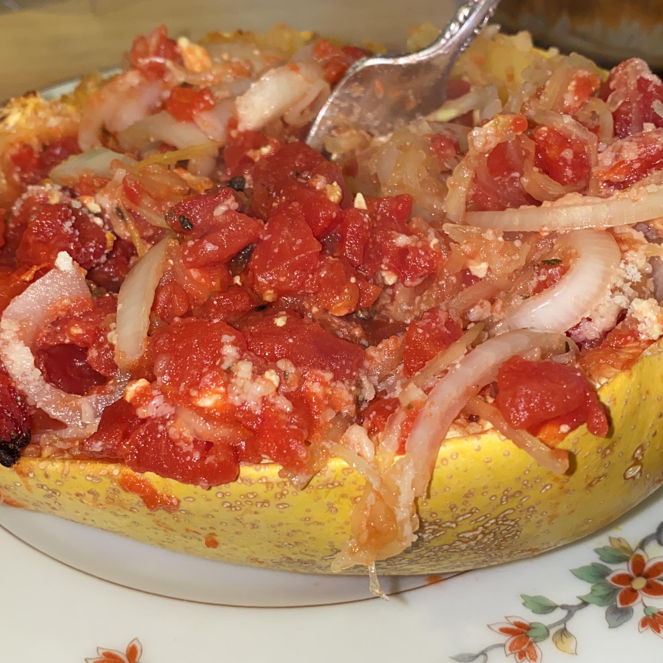 Ham and Butternut Squash Spaghetti Virginia Vaquero Casey