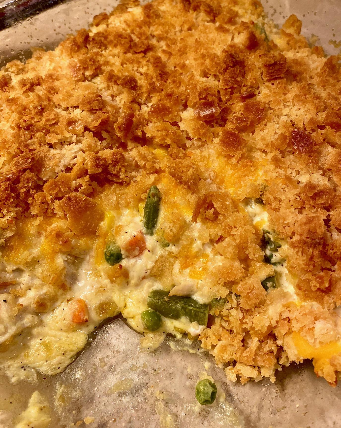 Lower-Calorie Creamy Chicken Casserole