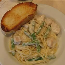 Chicken and Asparagus Fettuccine sanzoe