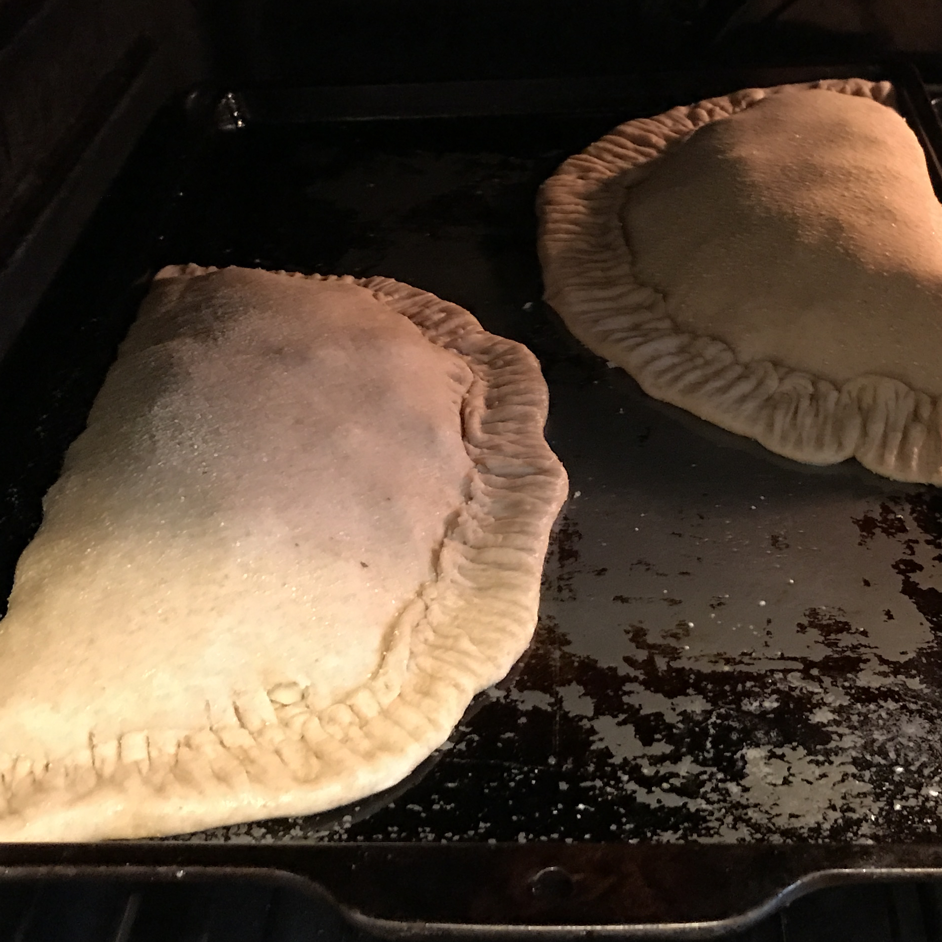 Sausage, Spinach and Ricotta Calzone