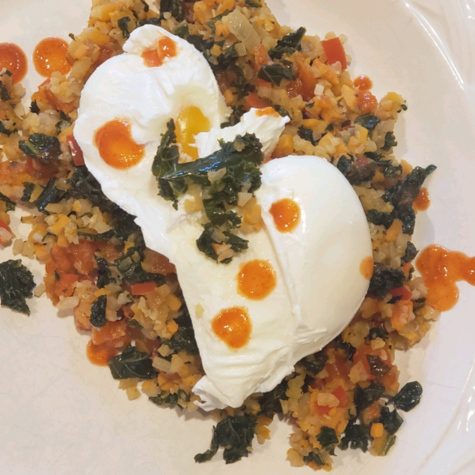 Cauliflower and Sweet Potato Hash