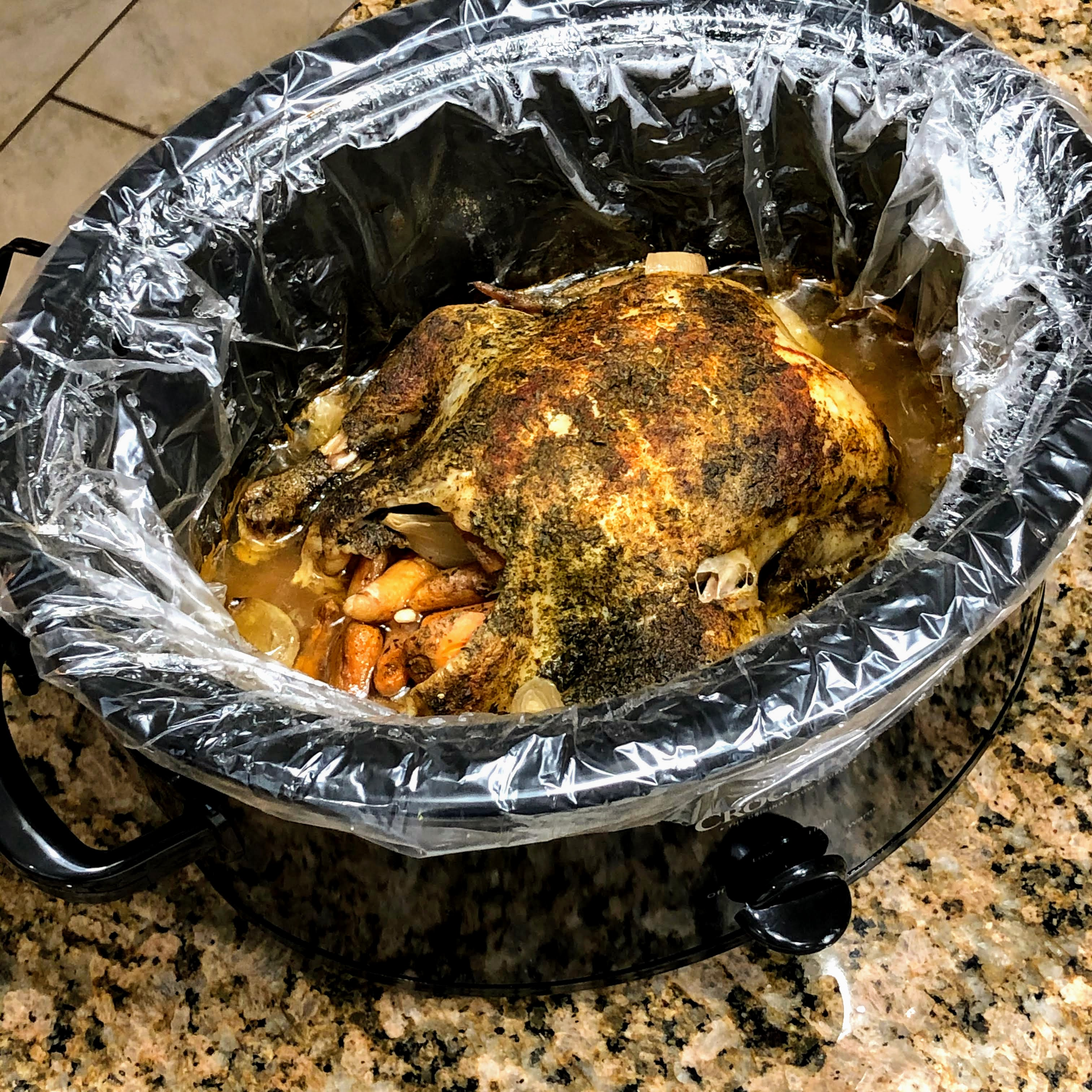 Slow Cooker Whole Chicken with Lemon
