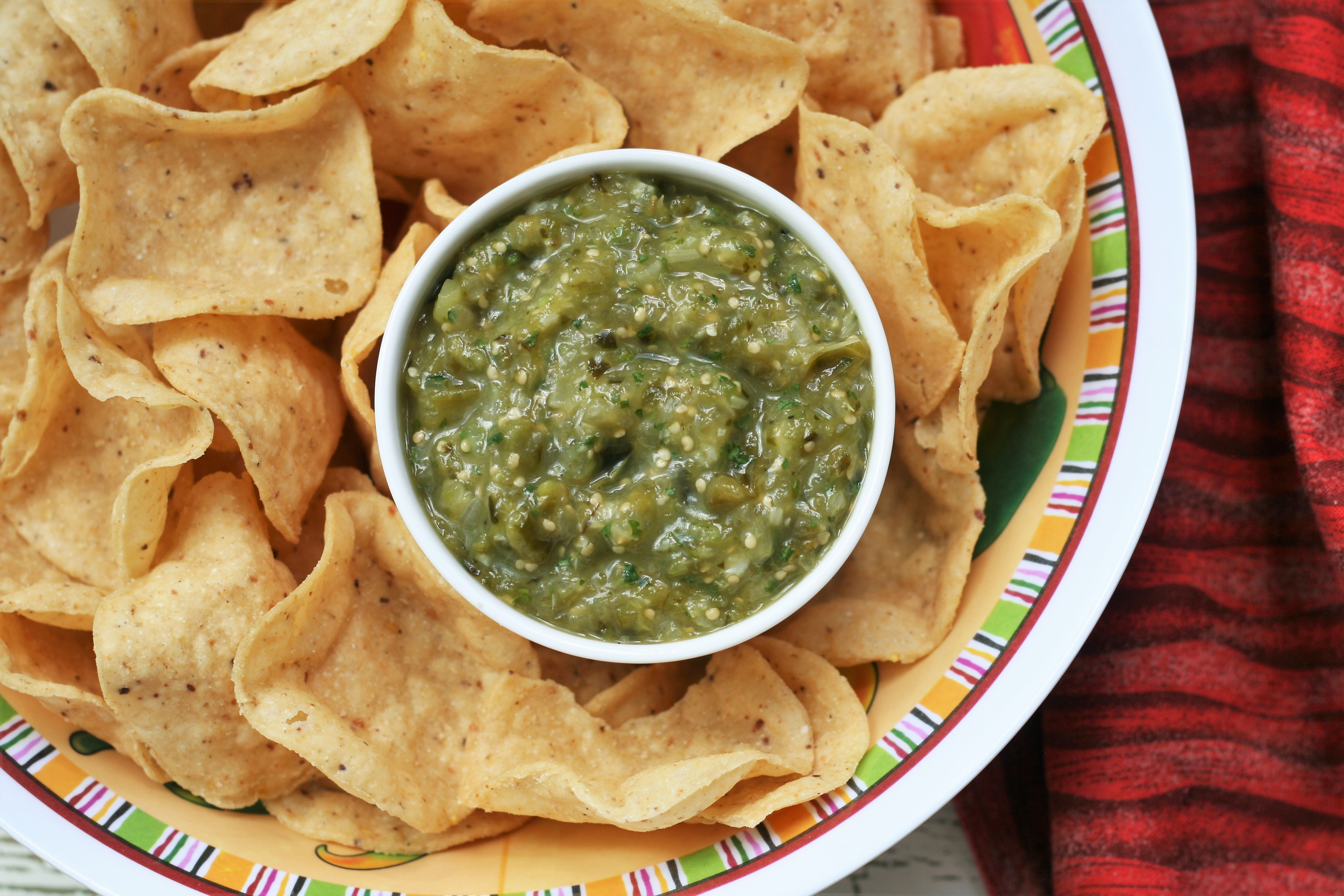 Air Fryer Roasted Salsa Verde