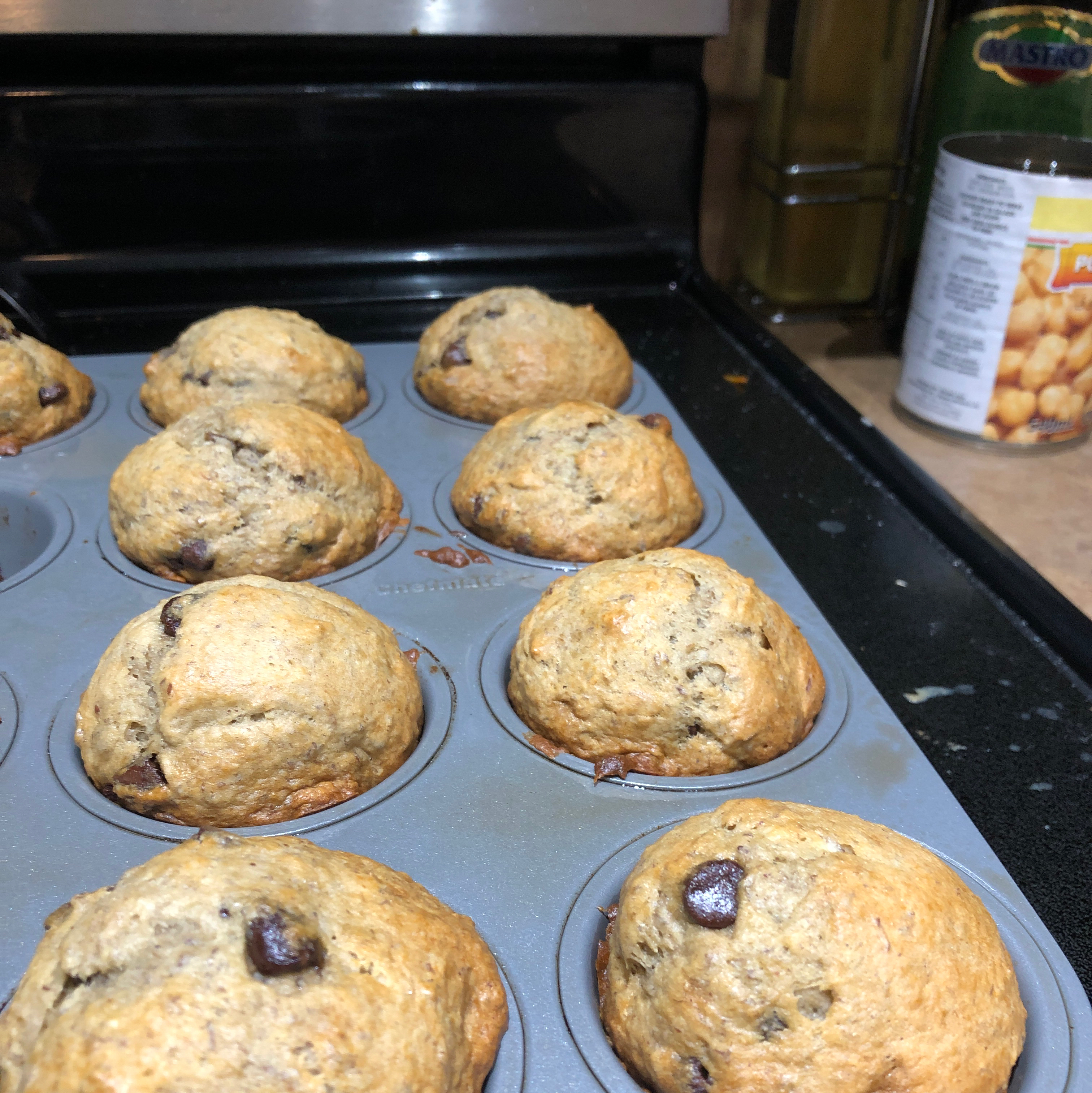 Most Requested Banana Chocolate Chip Muffins natypilo