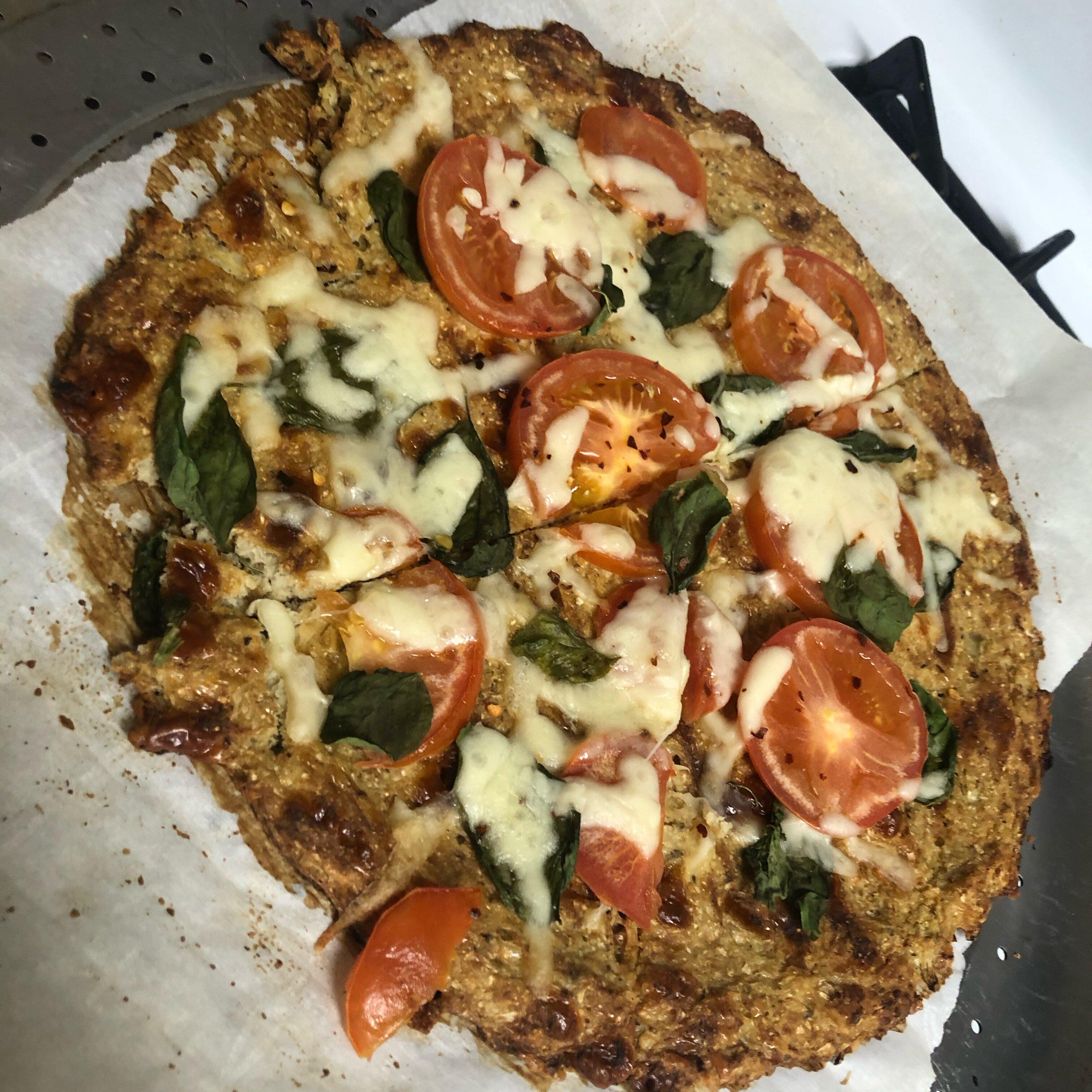 Cheesy Cauliflower Pizza Crust Recipe Allrecipes