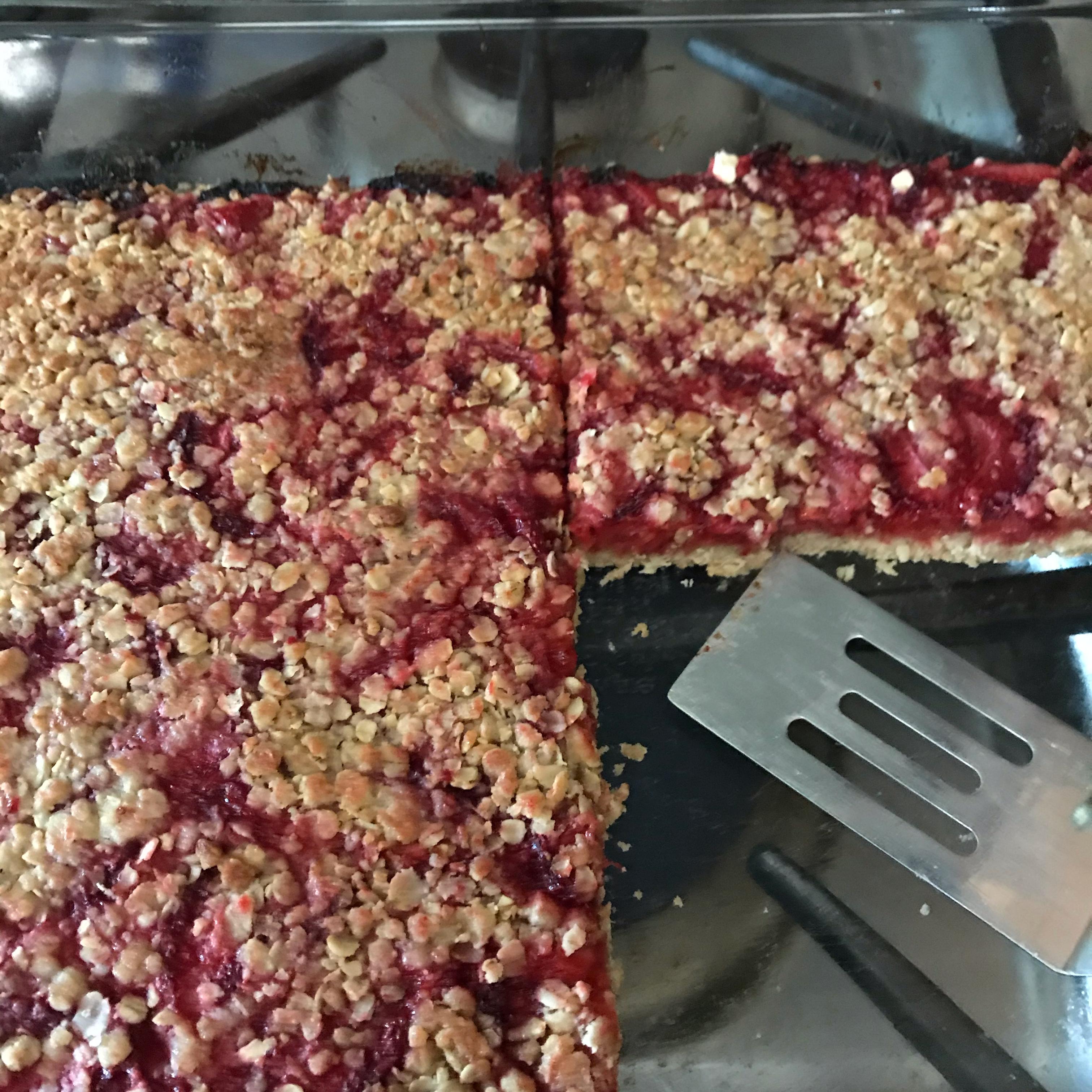 Strawberry Oatmeal Breakfast Bars