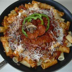 Rigatoni with Pizza Accents Beatrice