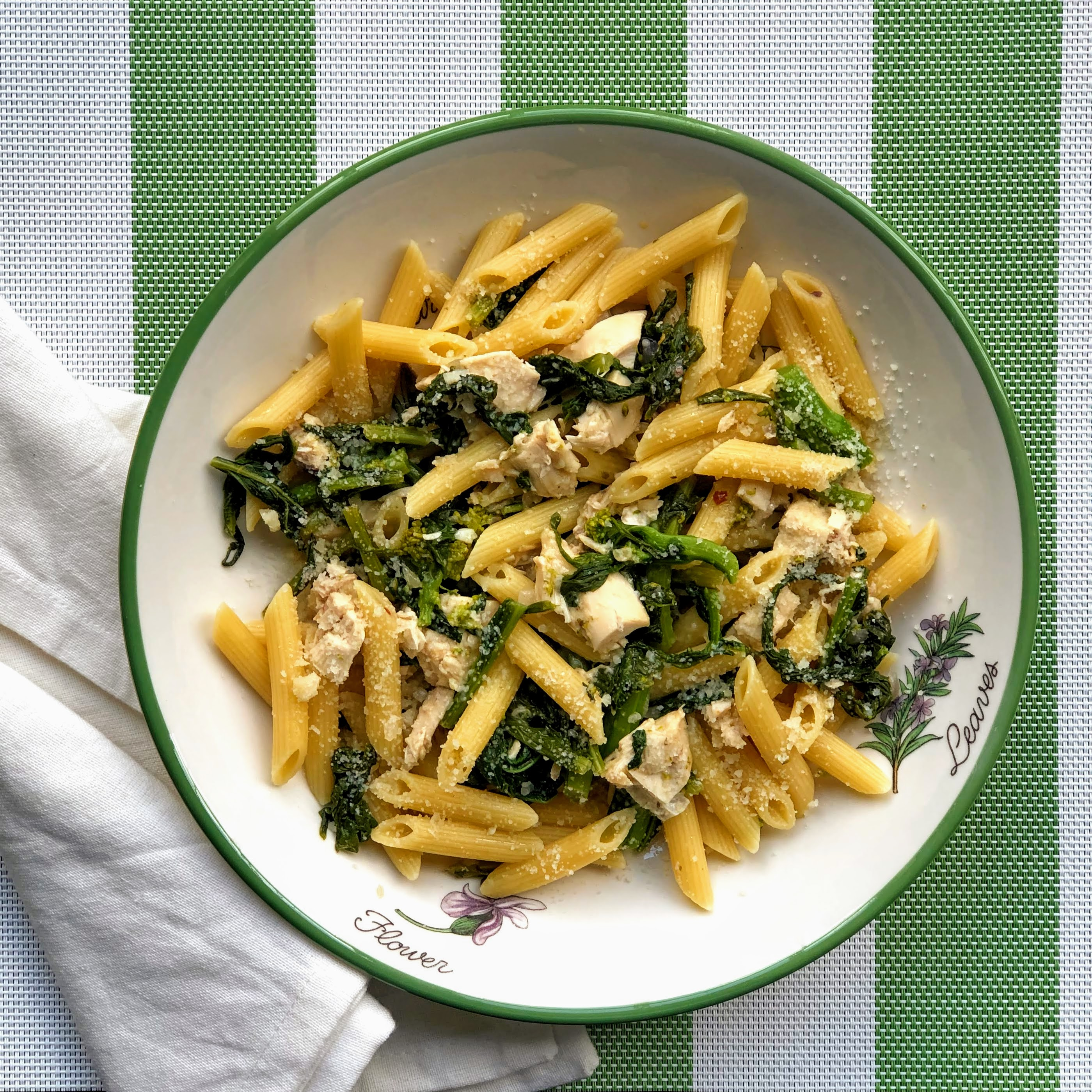 Chicken and Rapini Penne Pasta